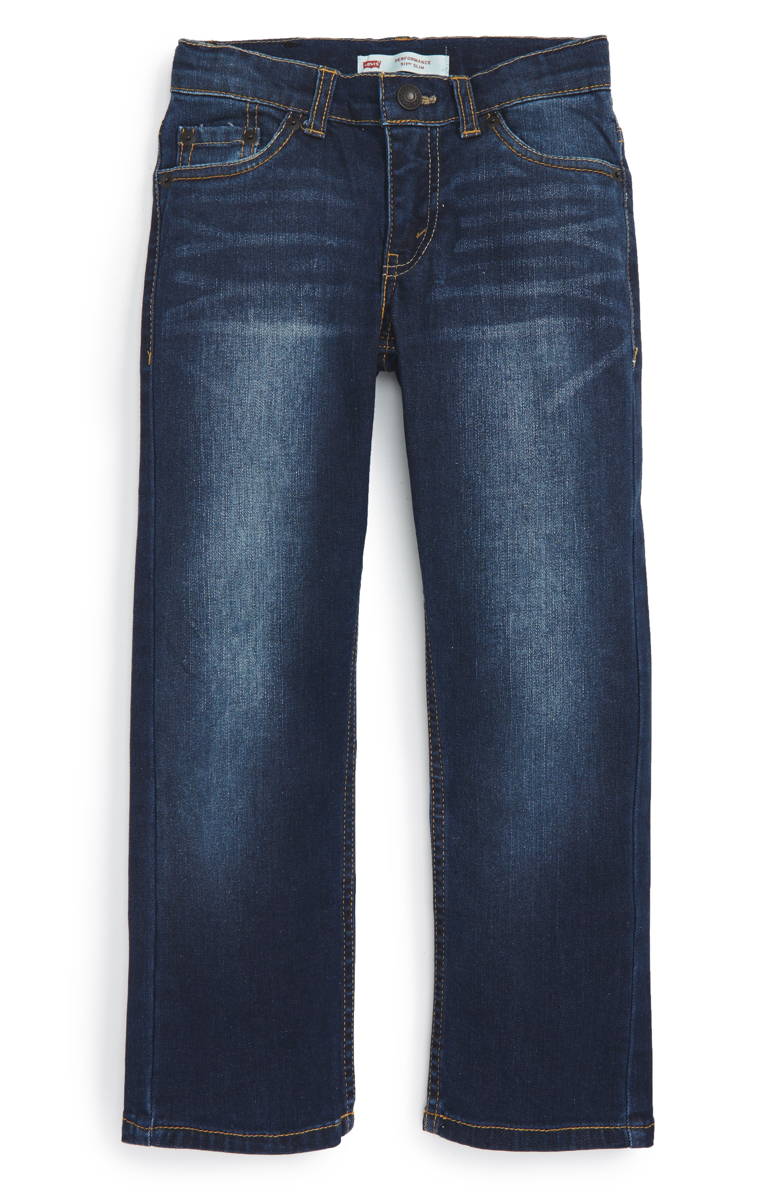 511<sup>™</sup> Knit Slim Leg Jeans,                         Main,                         color, BIKER BLUE
