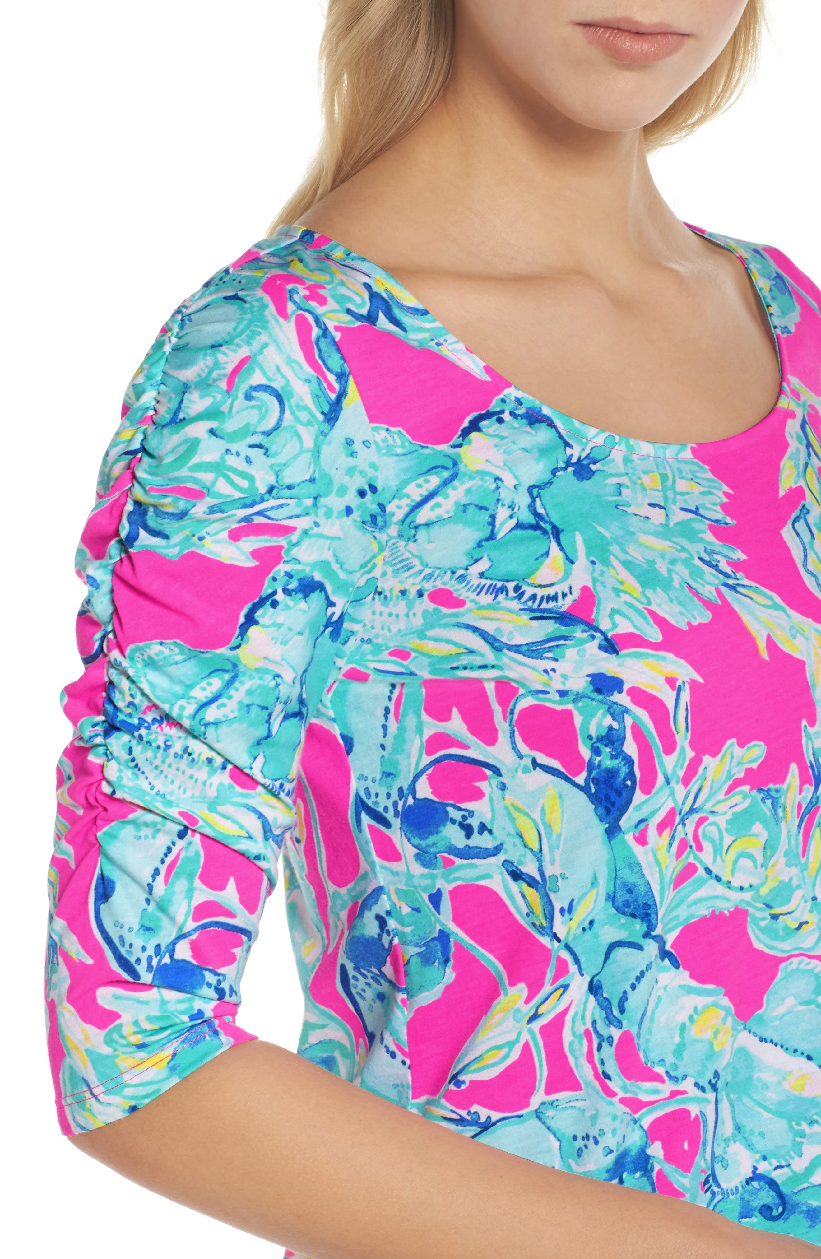 Lajolla T-Shirt Dress,                             Alternate thumbnail 4, color,                             400