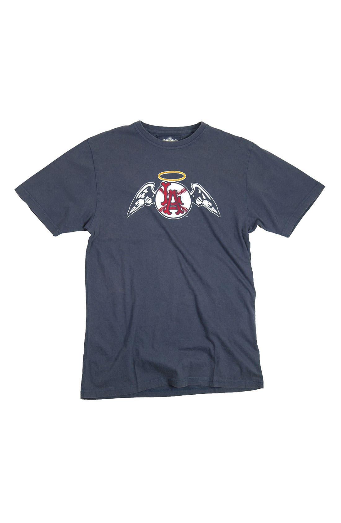 'Los Angeles Angels' Trim Fit T-Shirt,                             Alternate thumbnail 4, color,                             455