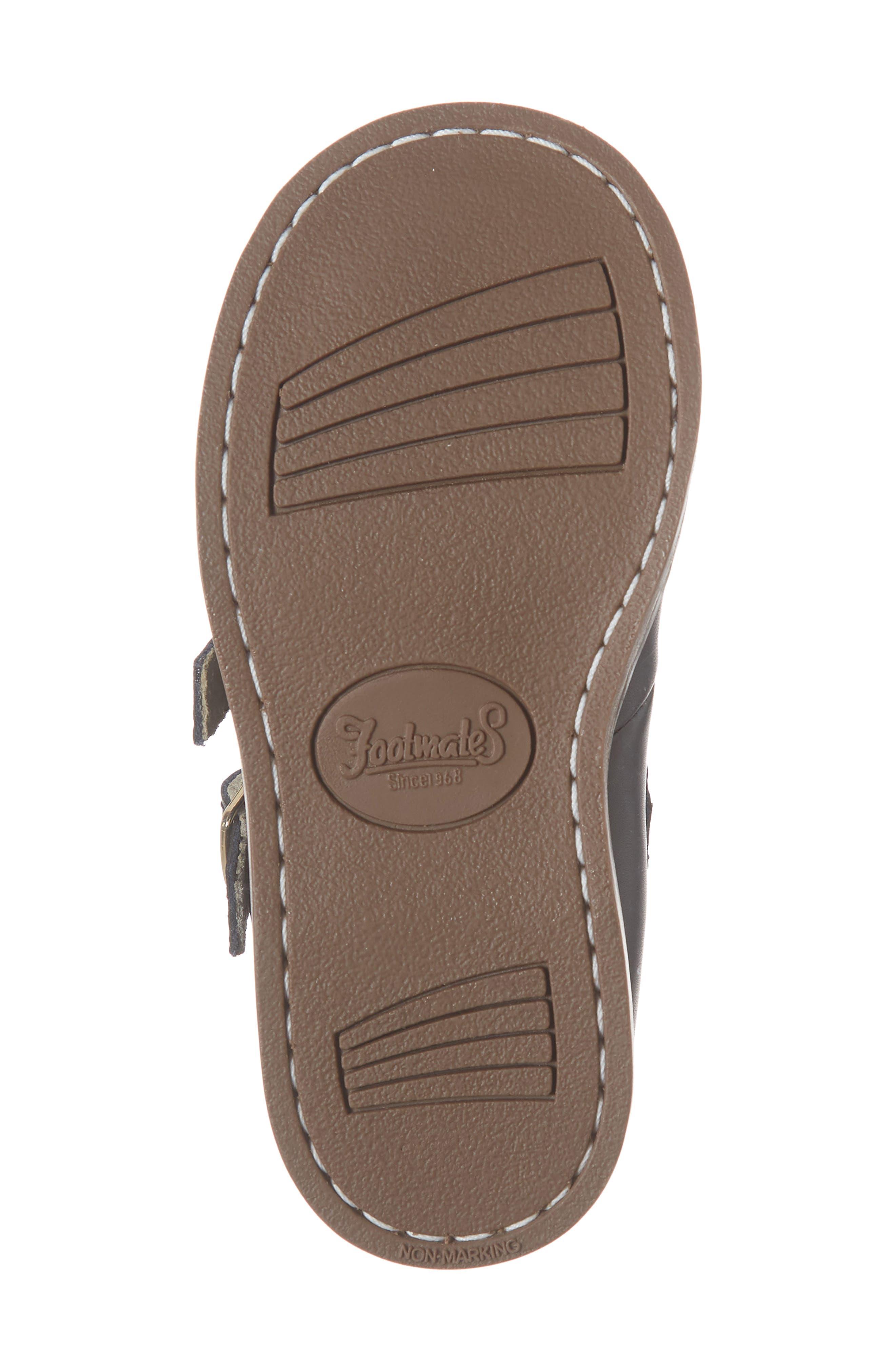 FOOTMATES,                             Danielle Double Strap Shoe,                             Alternate thumbnail 6, color,                             BLACK