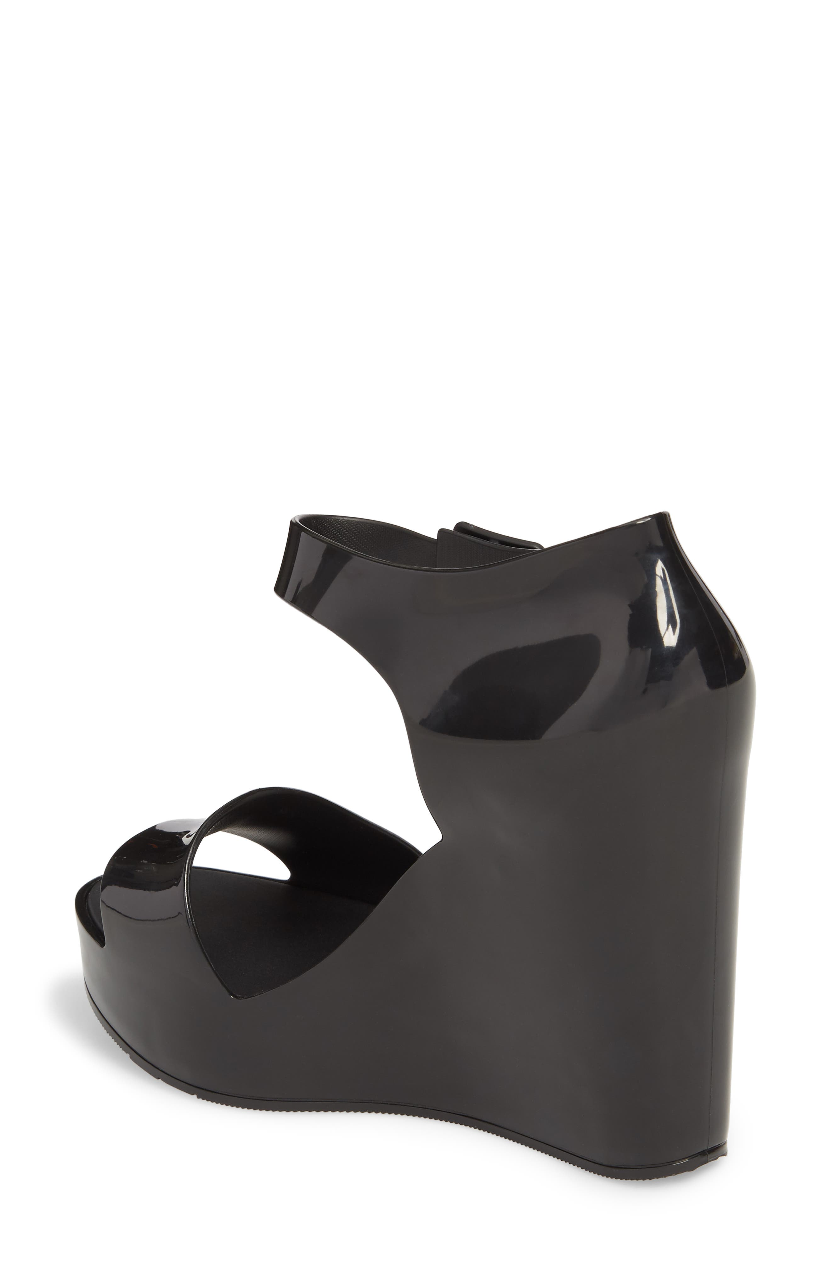 Mar Platform Wedge Sandal,                             Alternate thumbnail 2, color,                             BLACK