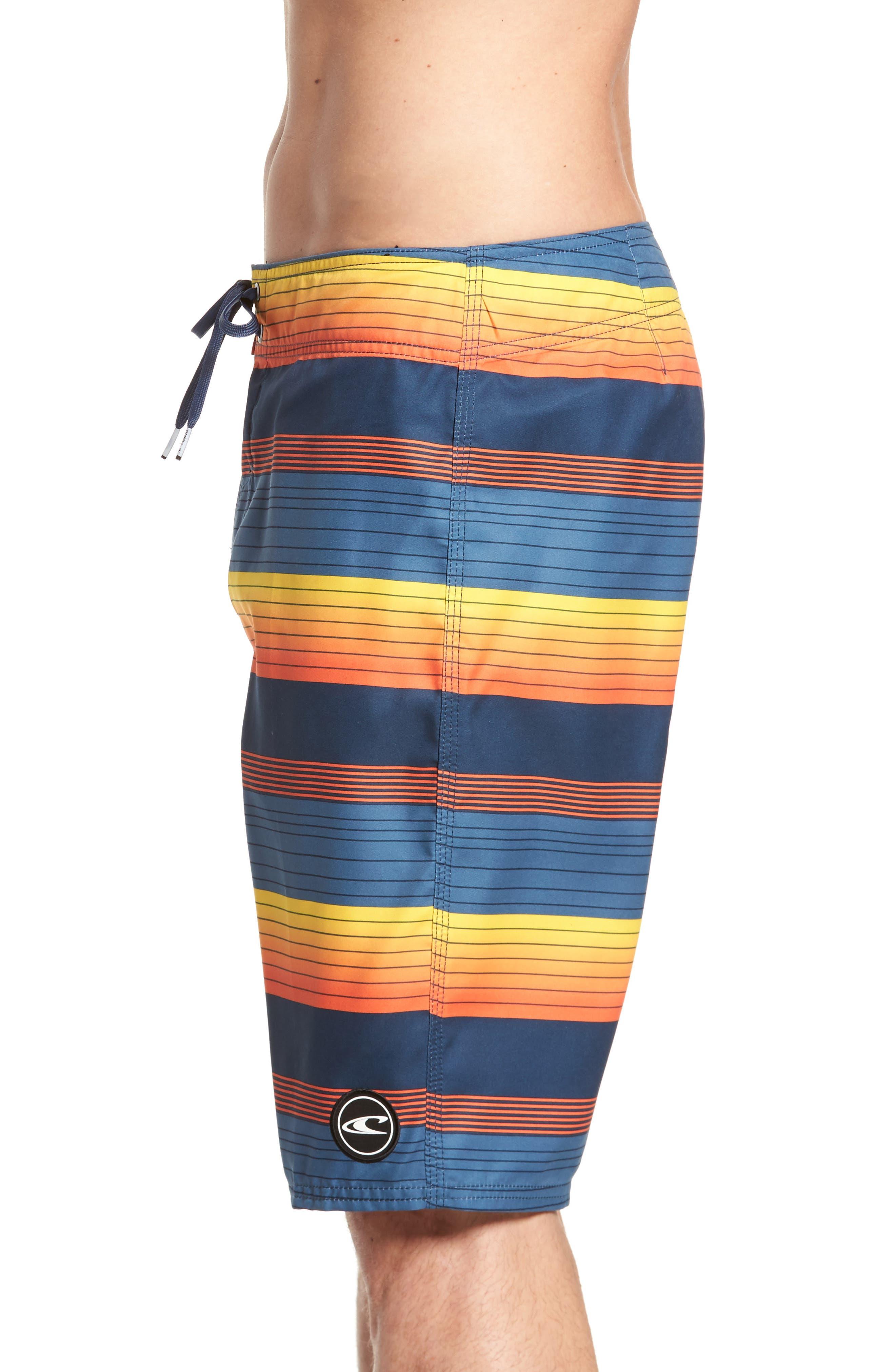 Santa Cruz Stripe Board Shorts,                             Alternate thumbnail 4, color,                             415