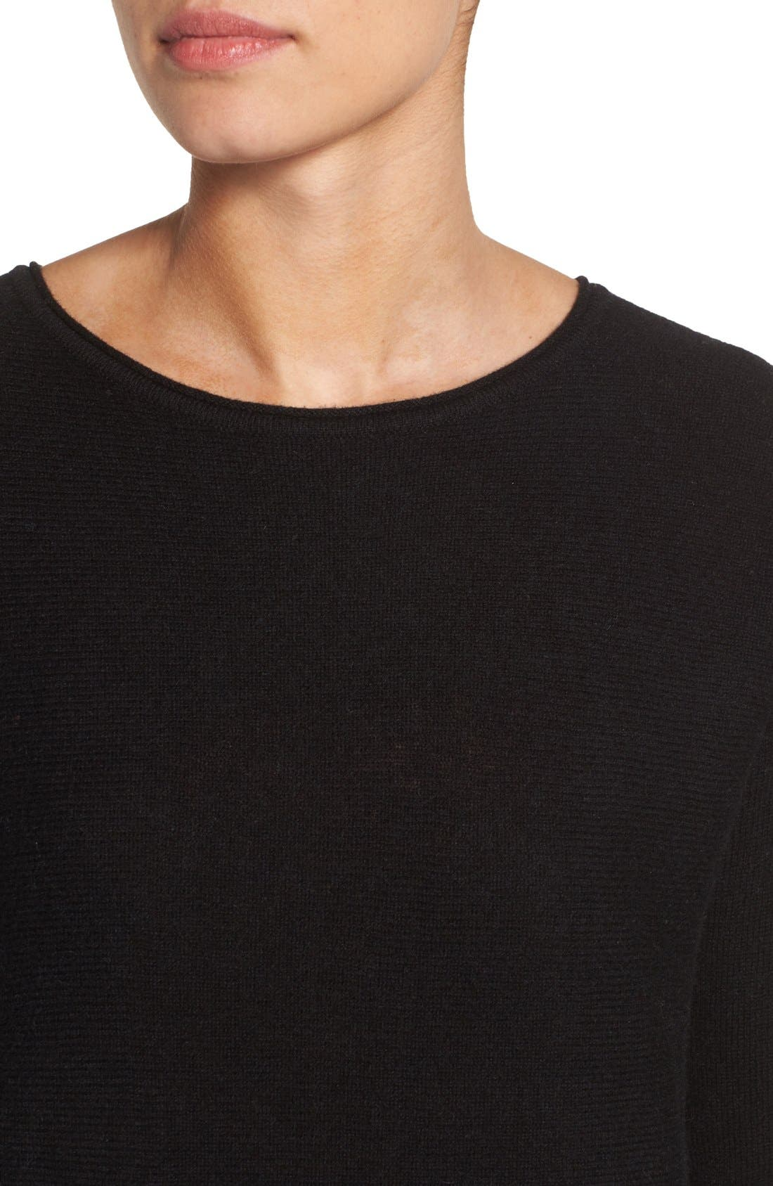 High/Low Wool & Cashmere Tunic Sweater,                             Alternate thumbnail 112, color,