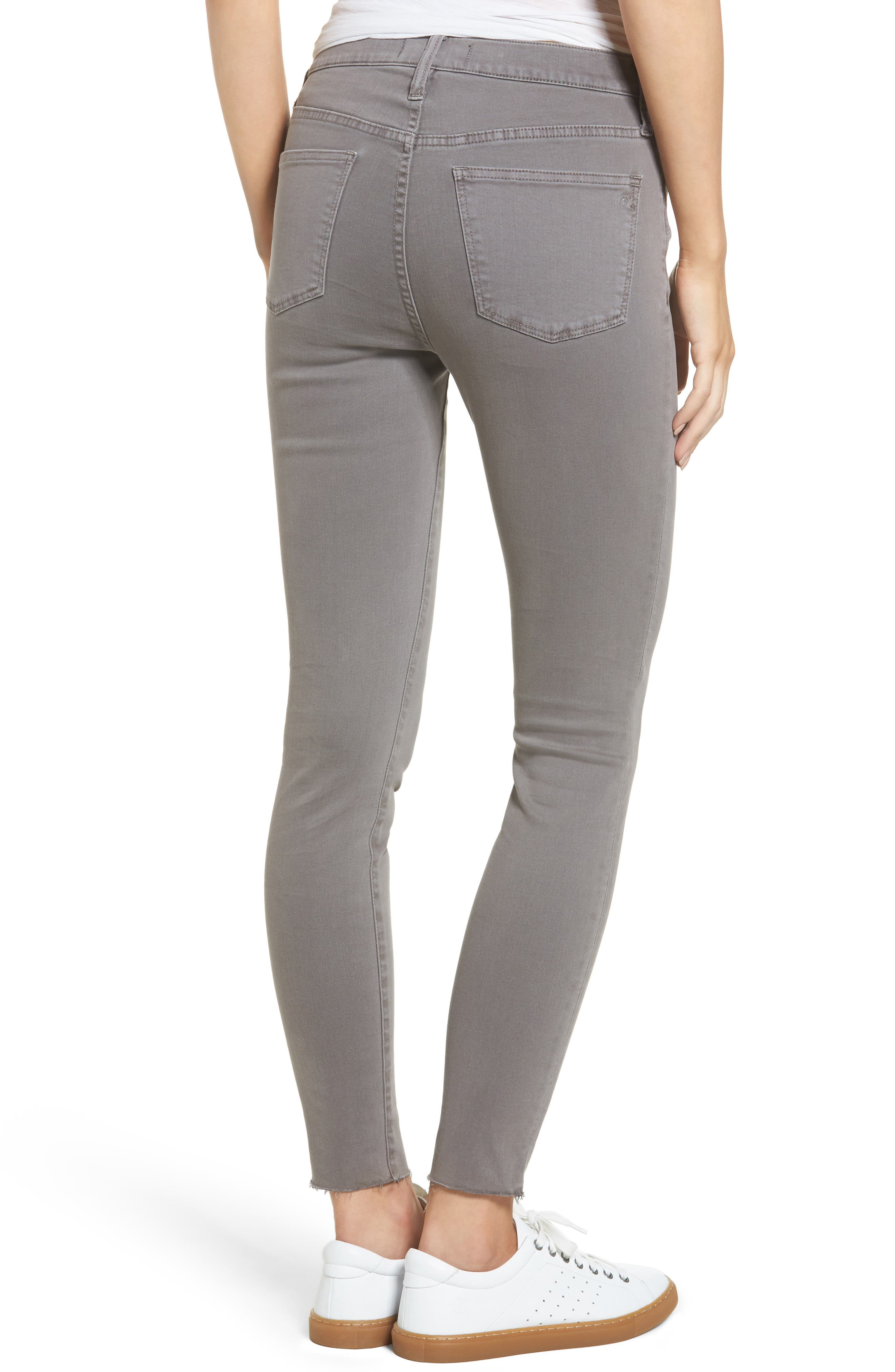 9-Inch High-Rise Skinny Jeans: Raw-Hem Garment-Dyed Edition,                             Alternate thumbnail 3, color,
