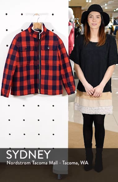 Buffalo Check Workwear Jacket with Faux Shearling Lining, sales video thumbnail