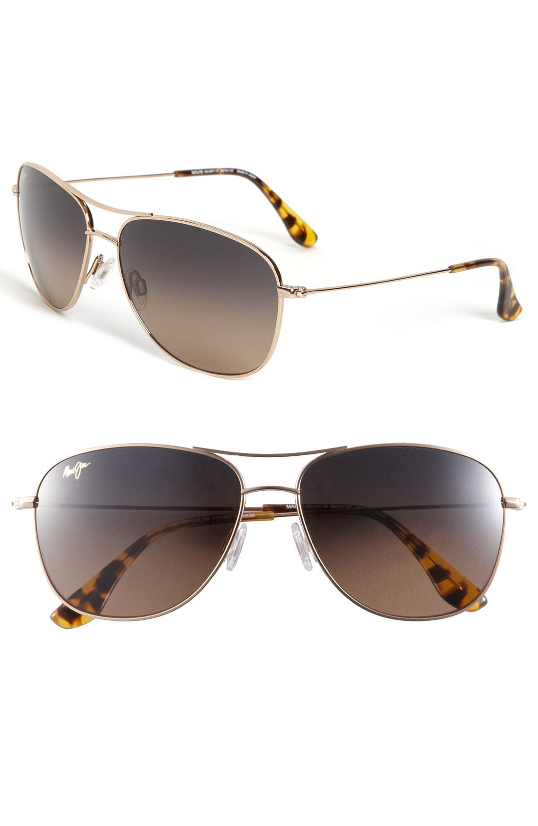 Cliff House 59mm PolarizedPlus2<sup>®</sup> Metal Aviator Sunglasses,                         Main,                         color, GOLD