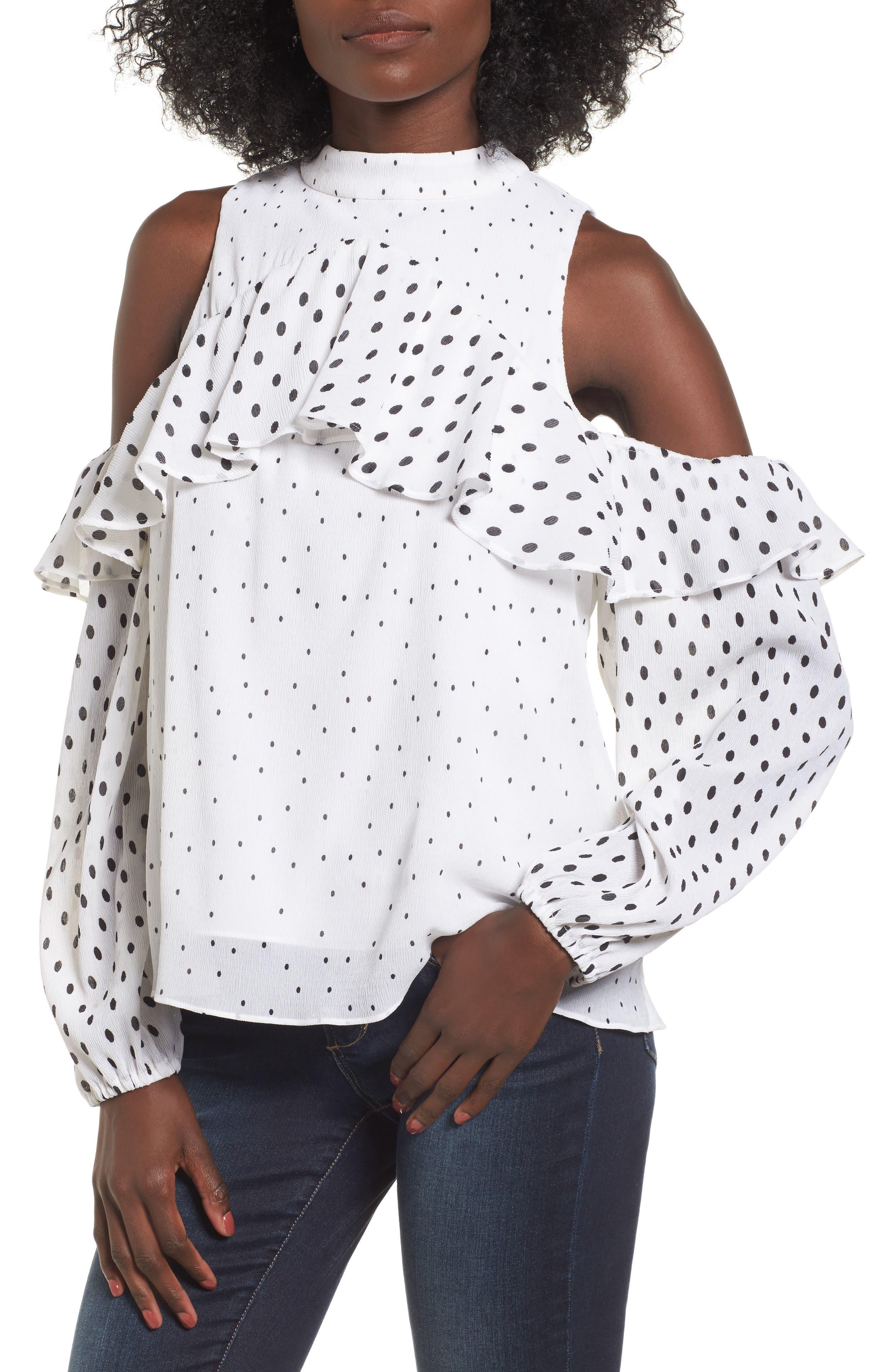 Savannah Cold Shoulder Blouse,                         Main,                         color, 900