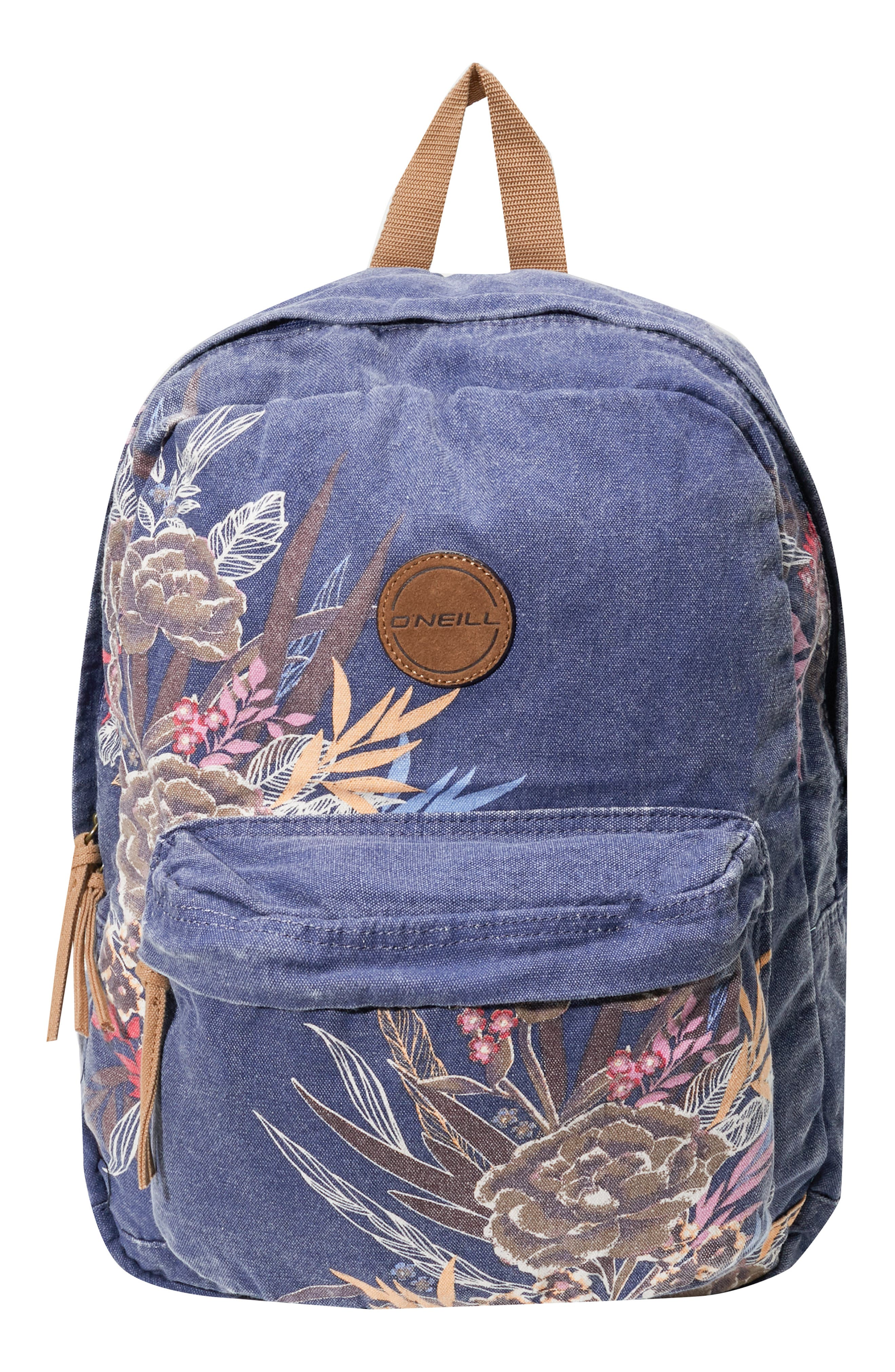 Blazin Floral Print Backpack,                             Main thumbnail 1, color,                             404