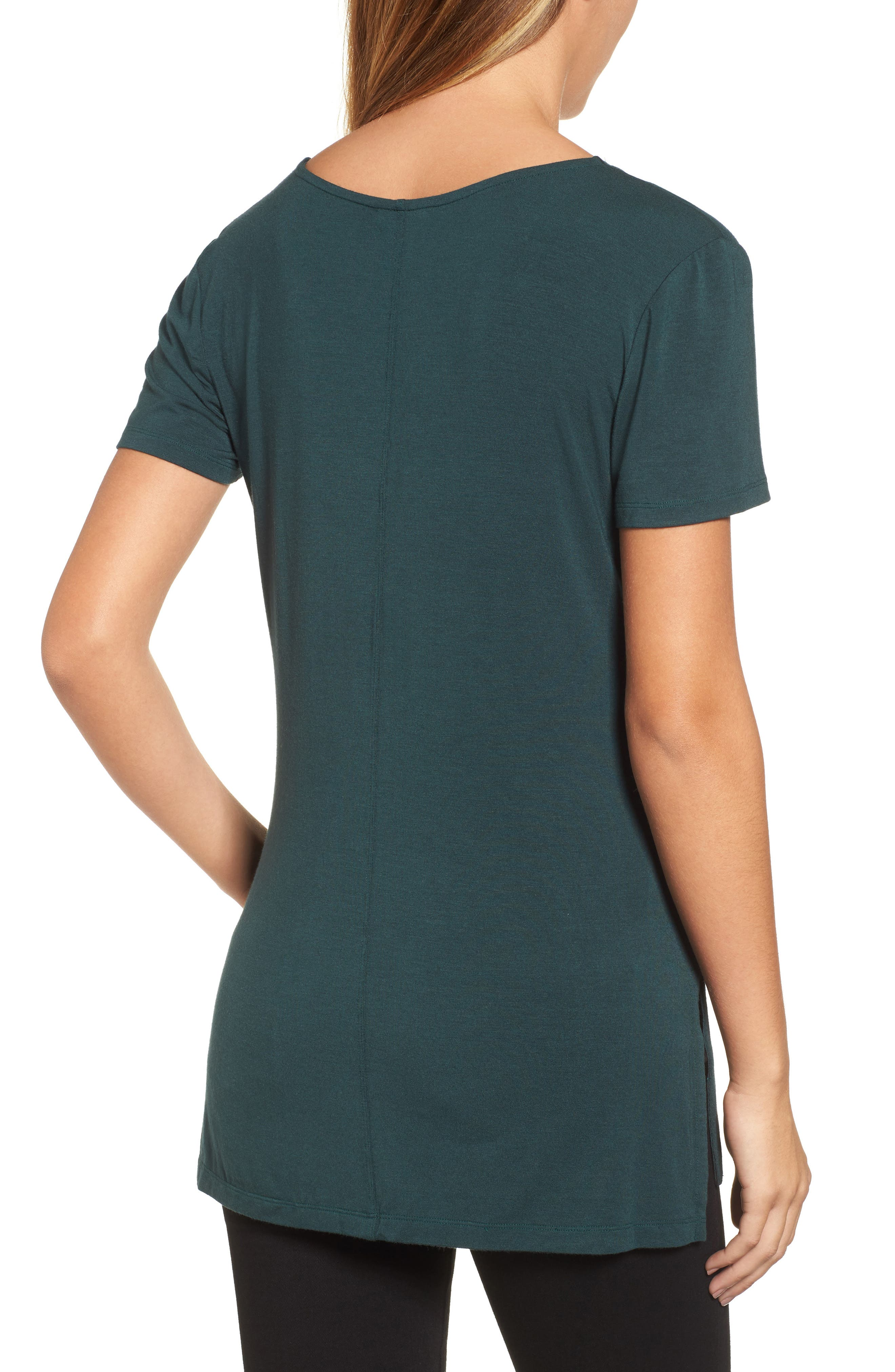 V-Neck Tunic Tee,                             Alternate thumbnail 15, color,