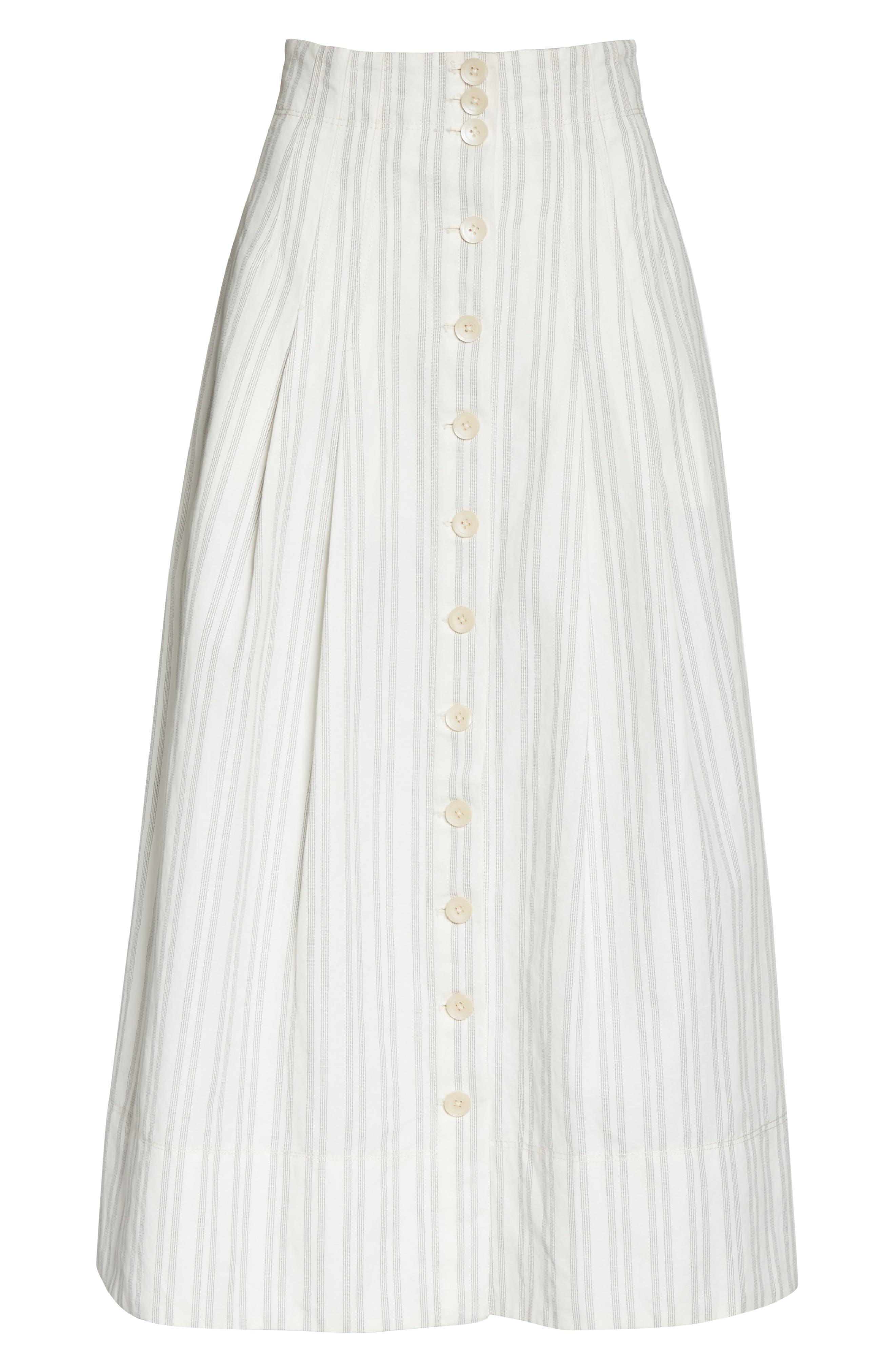 Stripe Midi Skirt,                             Alternate thumbnail 6, color,                             199