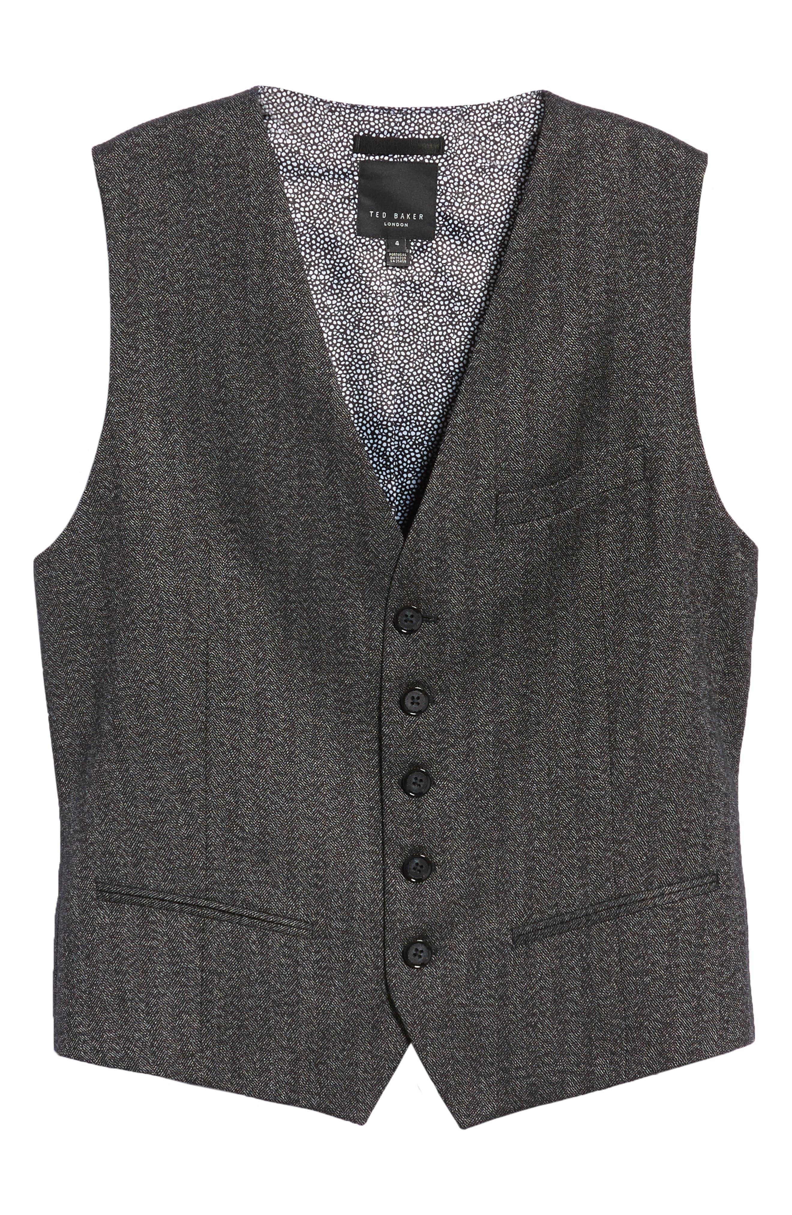 Wenswai Slim Vest,                             Alternate thumbnail 5, color,                             CHARCOAL