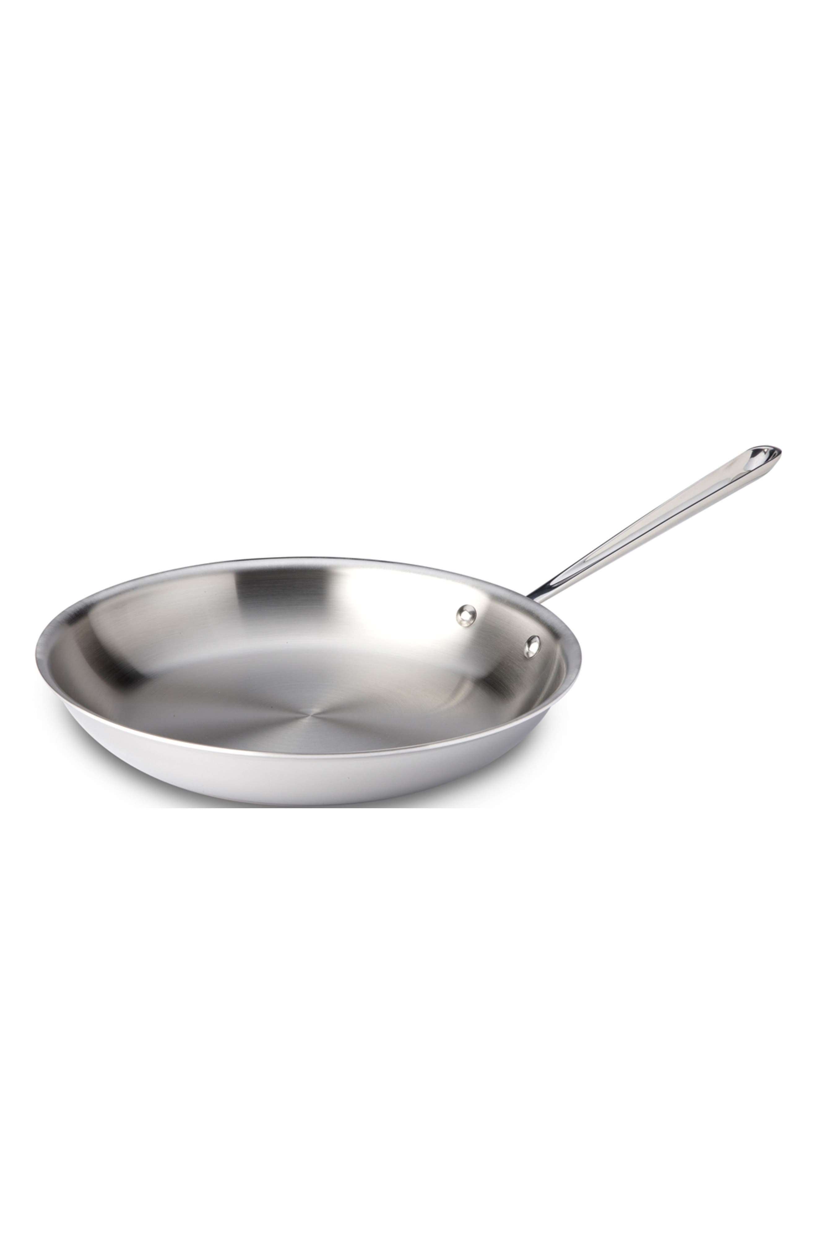 ALL-CLAD,                             D3 12-Inch Stainless Steel Fry Pan,                             Main thumbnail 1, color,                             SILVER