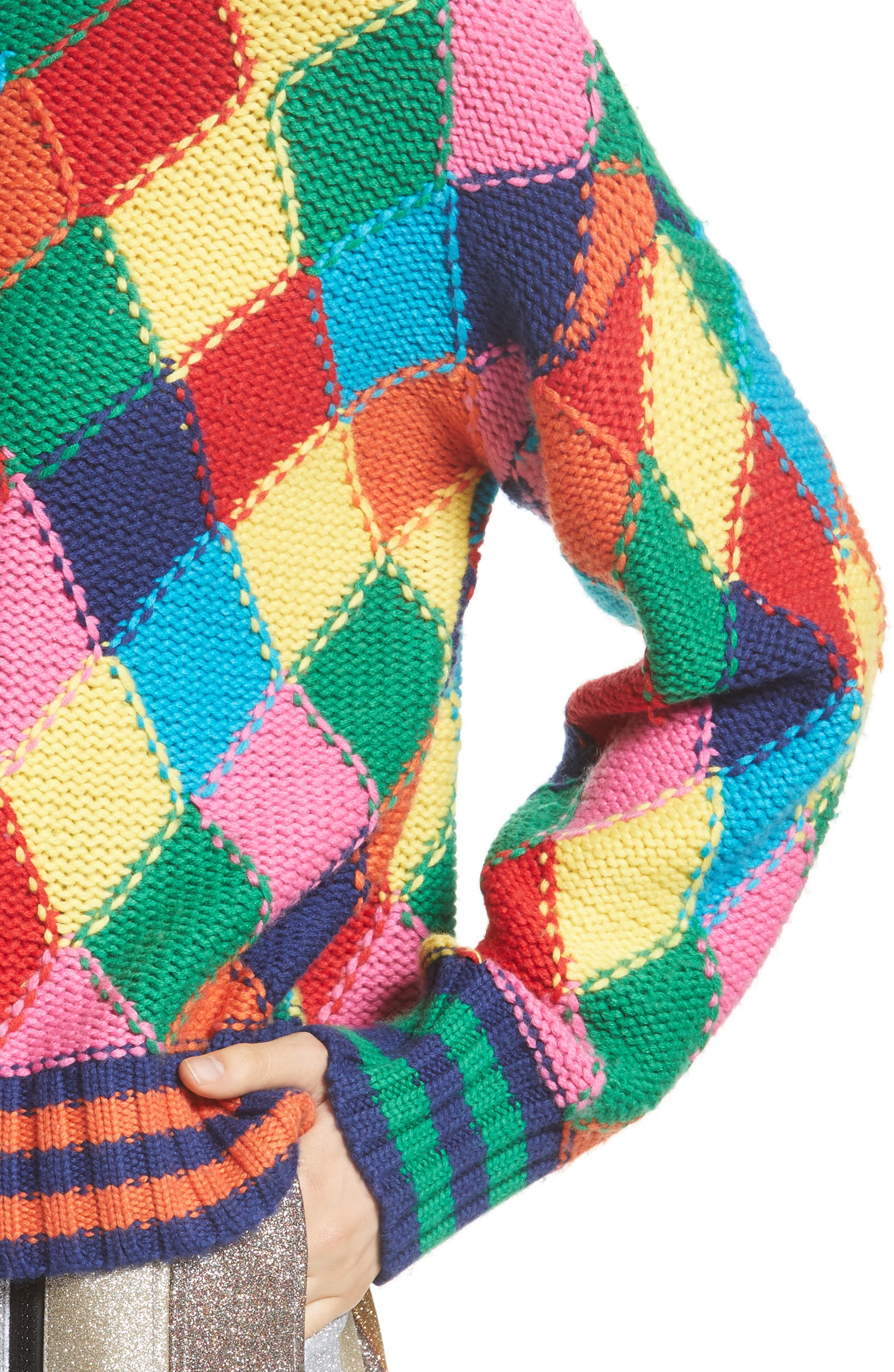 Diamond Stitch Sweater,                             Alternate thumbnail 4, color,                             960