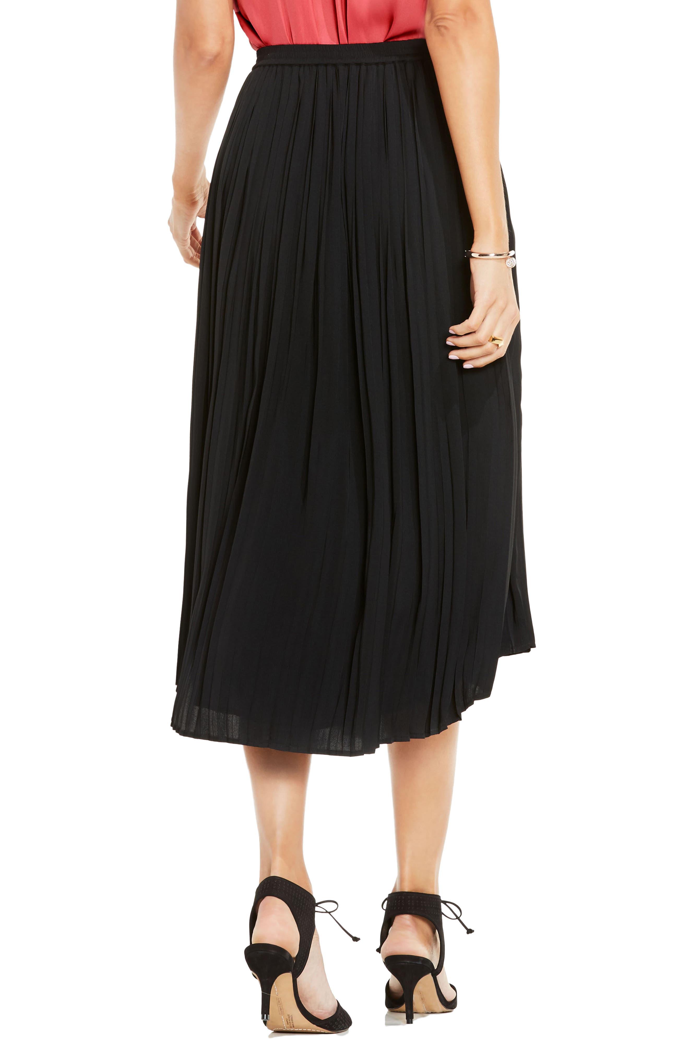 Pleat Midi Skirt,                             Alternate thumbnail 2, color,                             006