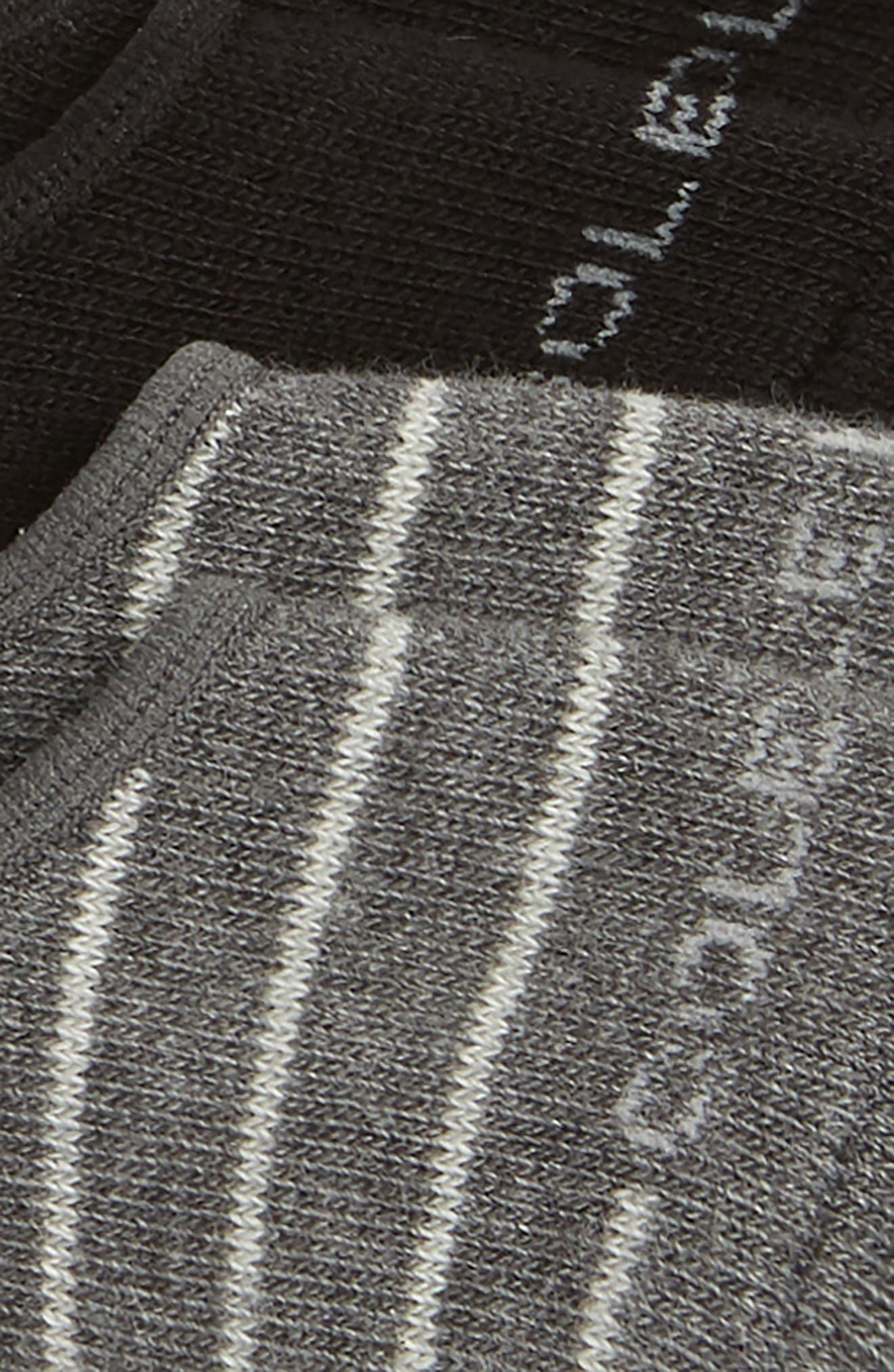 2-Pack Fine Stripe No-Show Socks,                             Alternate thumbnail 2, color,                             GREY