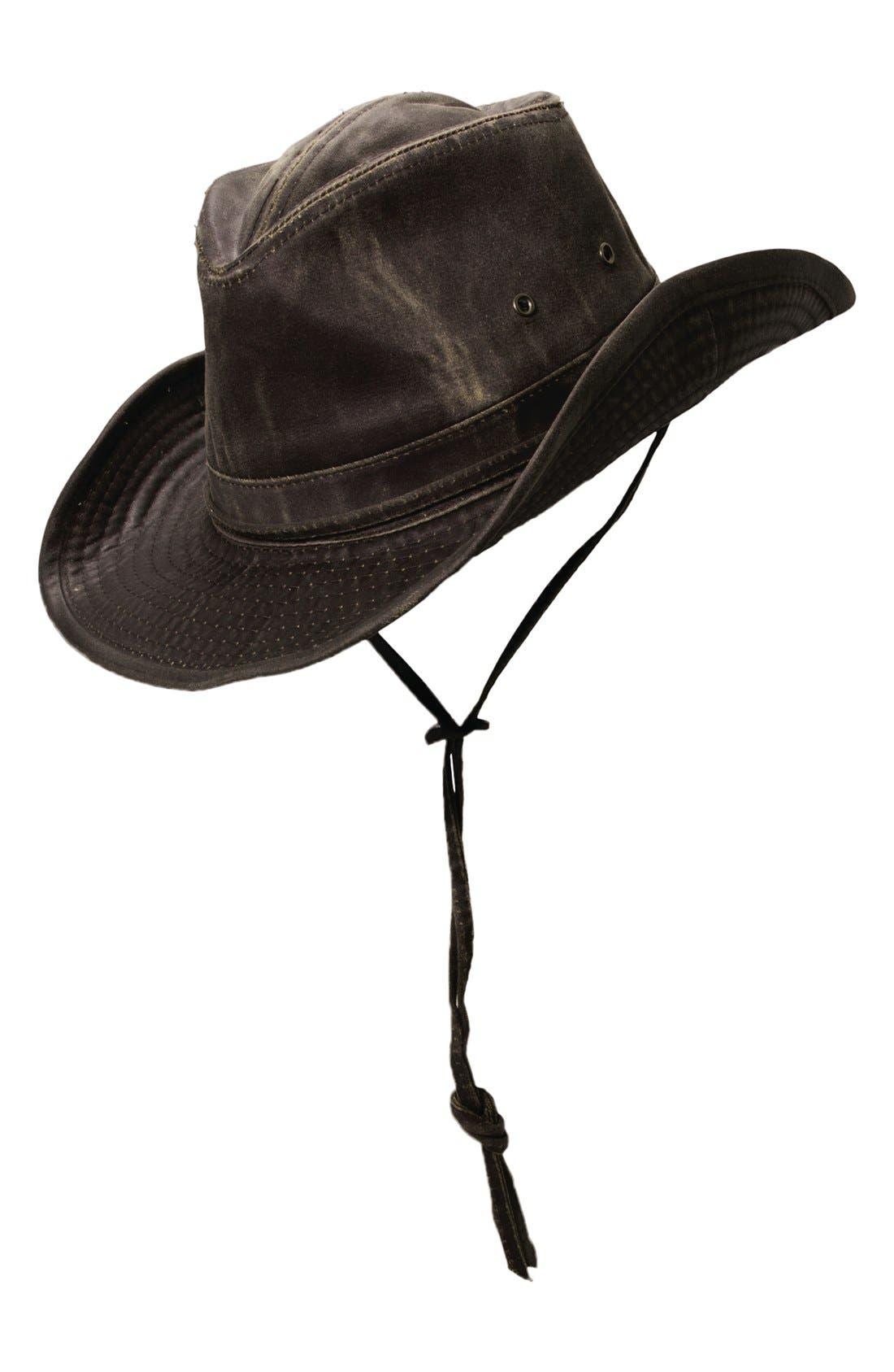 Cotton Blend Outback Hat,                         Main,                         color, 200