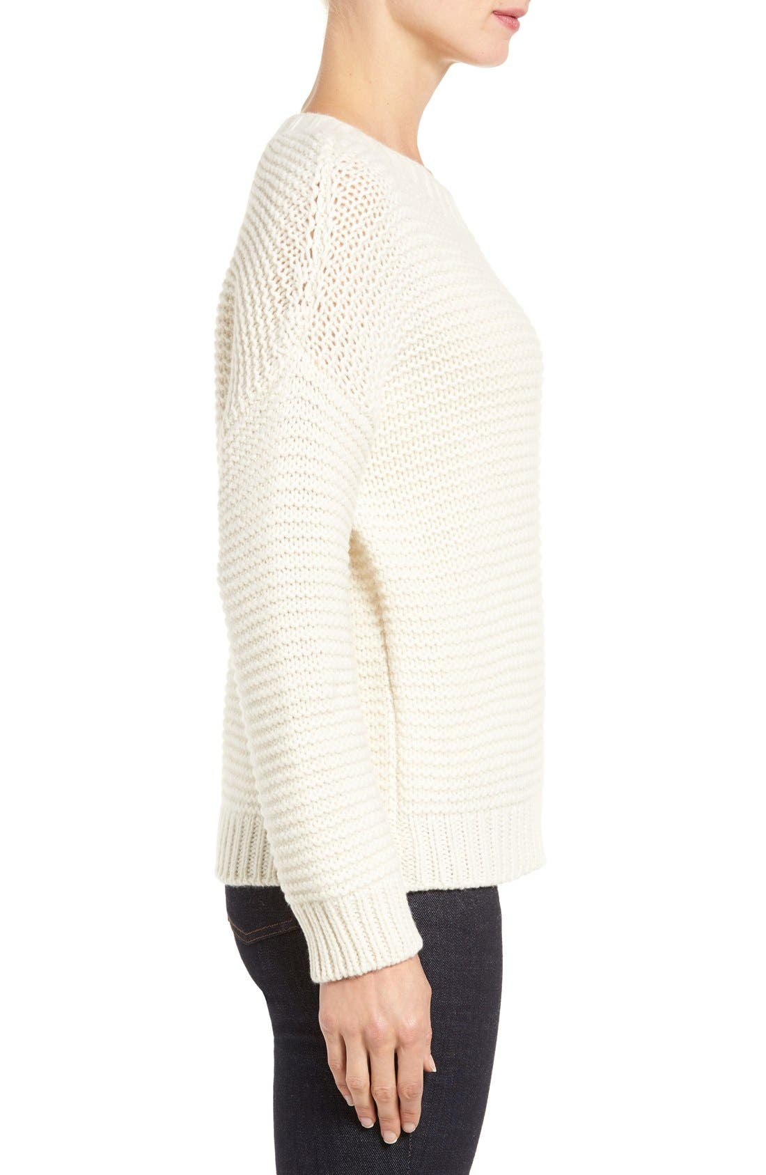 Lofty Recycled Cashmere Blend Sweater,                             Alternate thumbnail 3, color,                             103