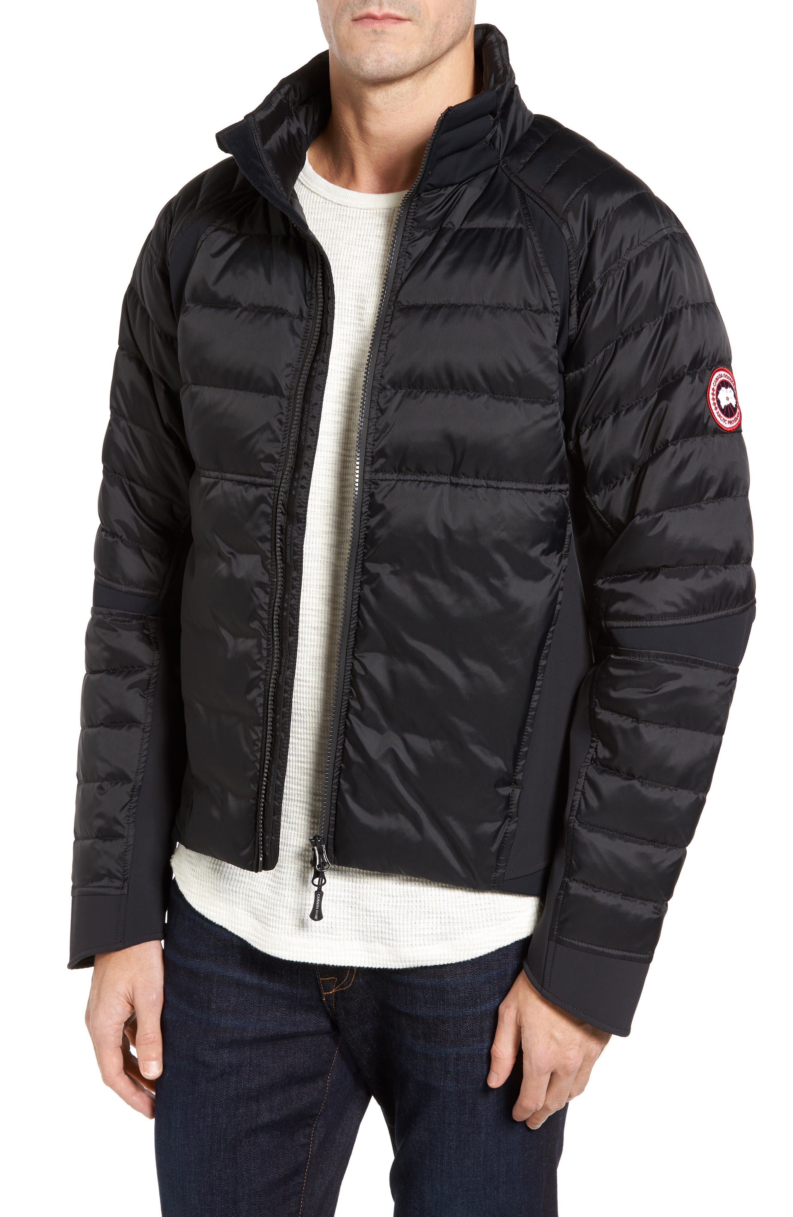 HyBridge Perren  Slim Fit Packable Down Jacket, Main, color, BLACK