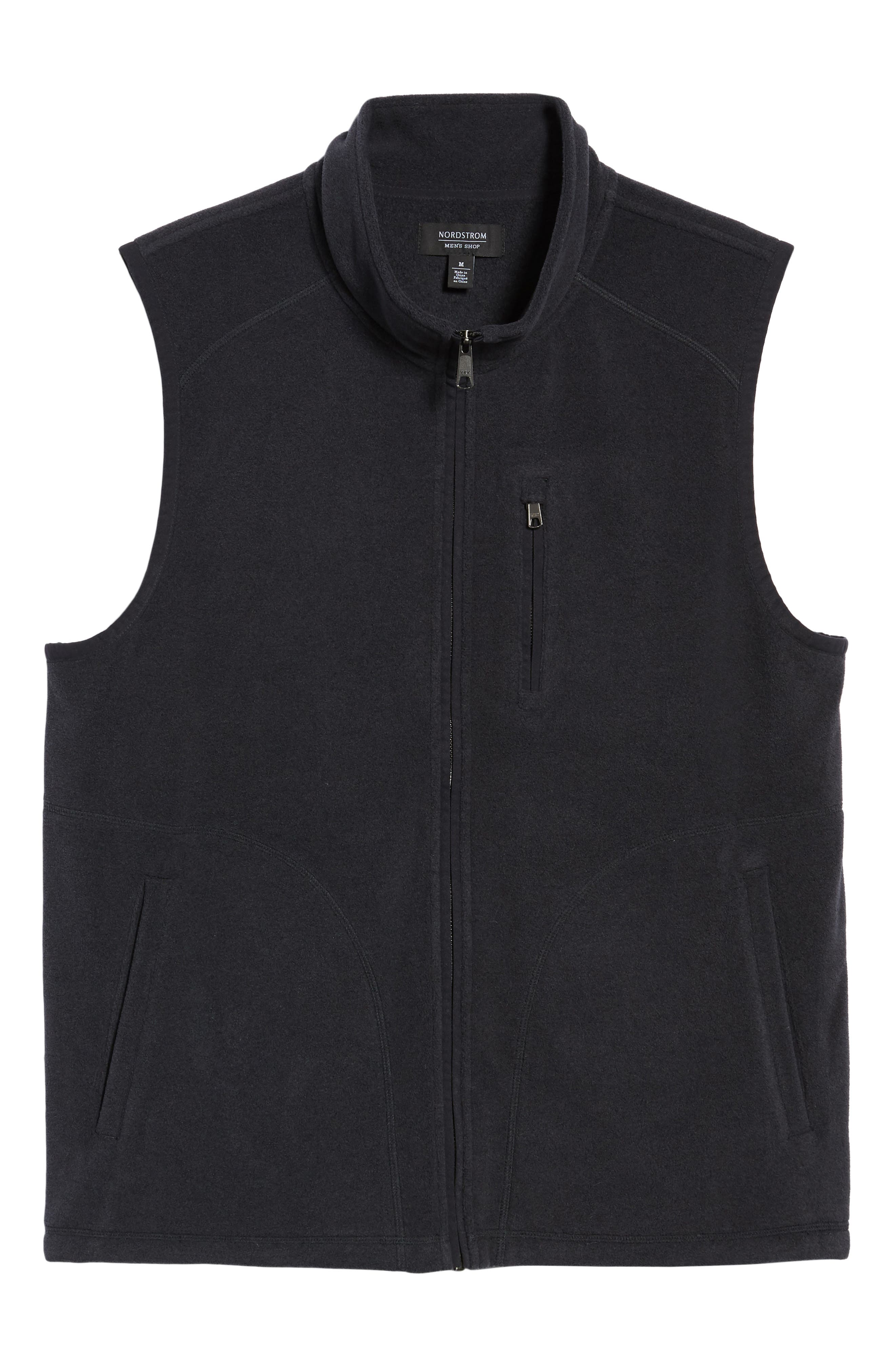 Polar Fleece Vest,                             Alternate thumbnail 6, color,                             001