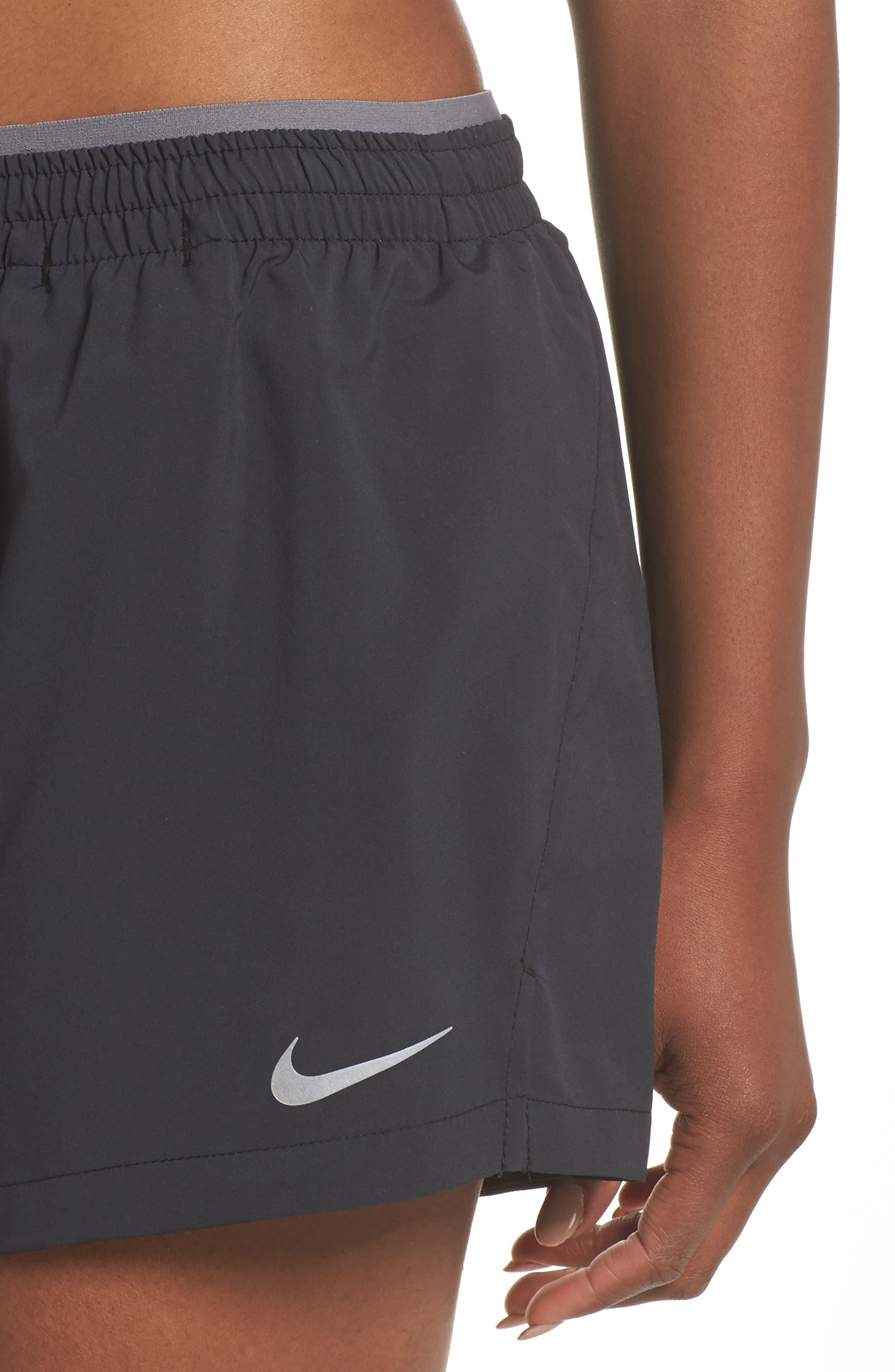 Flex 5-Inch Inseam Running Shorts,                             Alternate thumbnail 4, color,                             BLACK/ GUNSMOKE