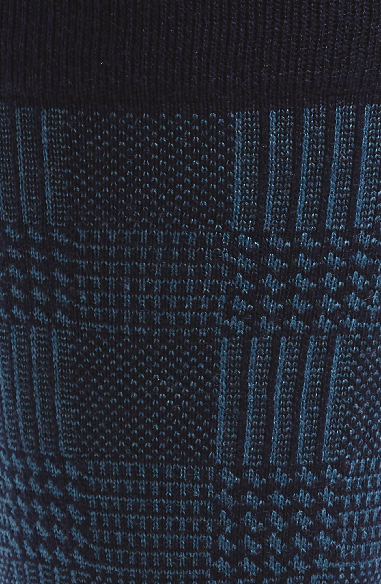 Plaid Wool Blend Socks,                             Alternate thumbnail 2, color,                             410