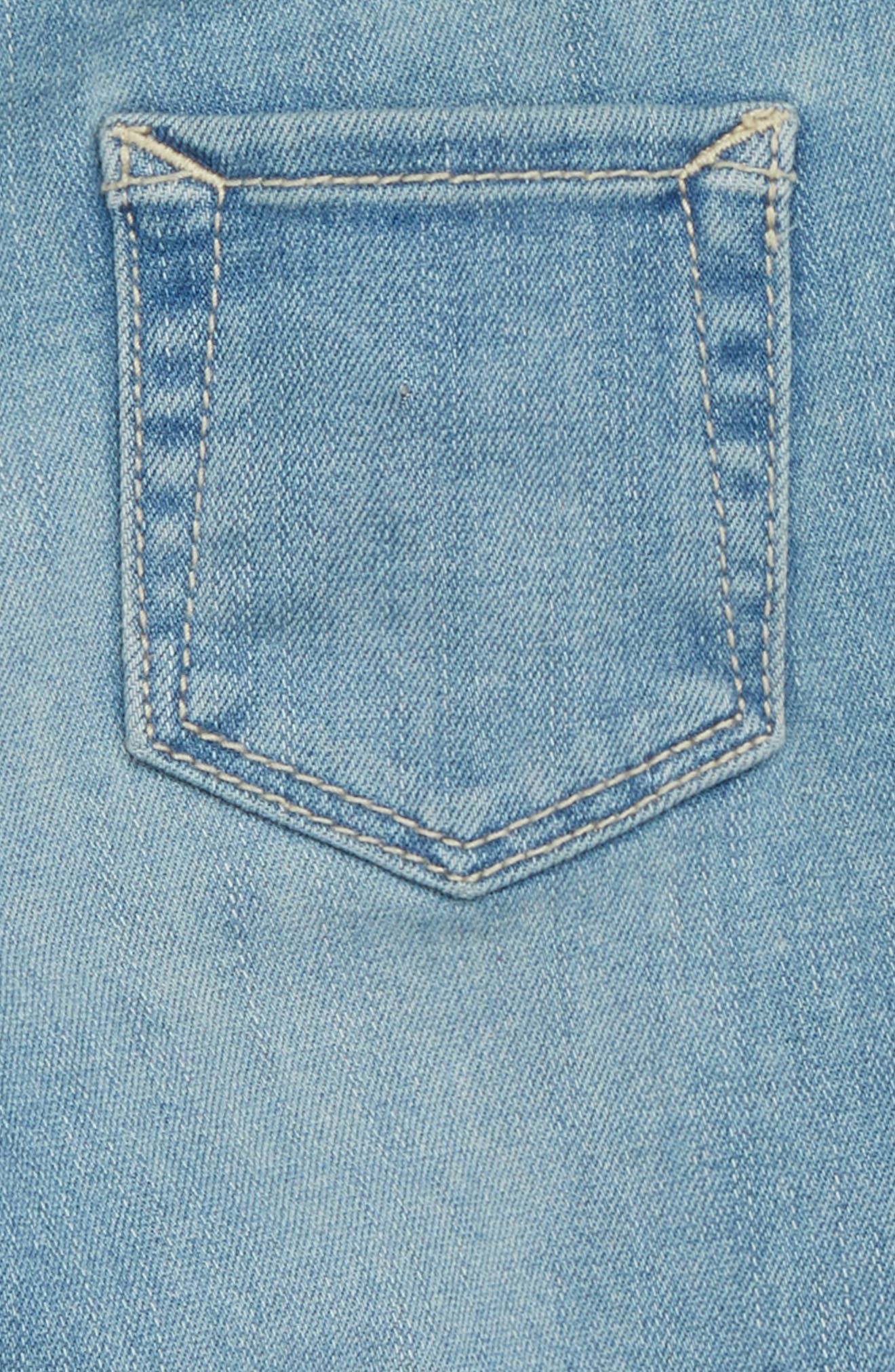 Star Patch Skinny Jeans,                             Alternate thumbnail 3, color,                             BLUEBIRD WASH