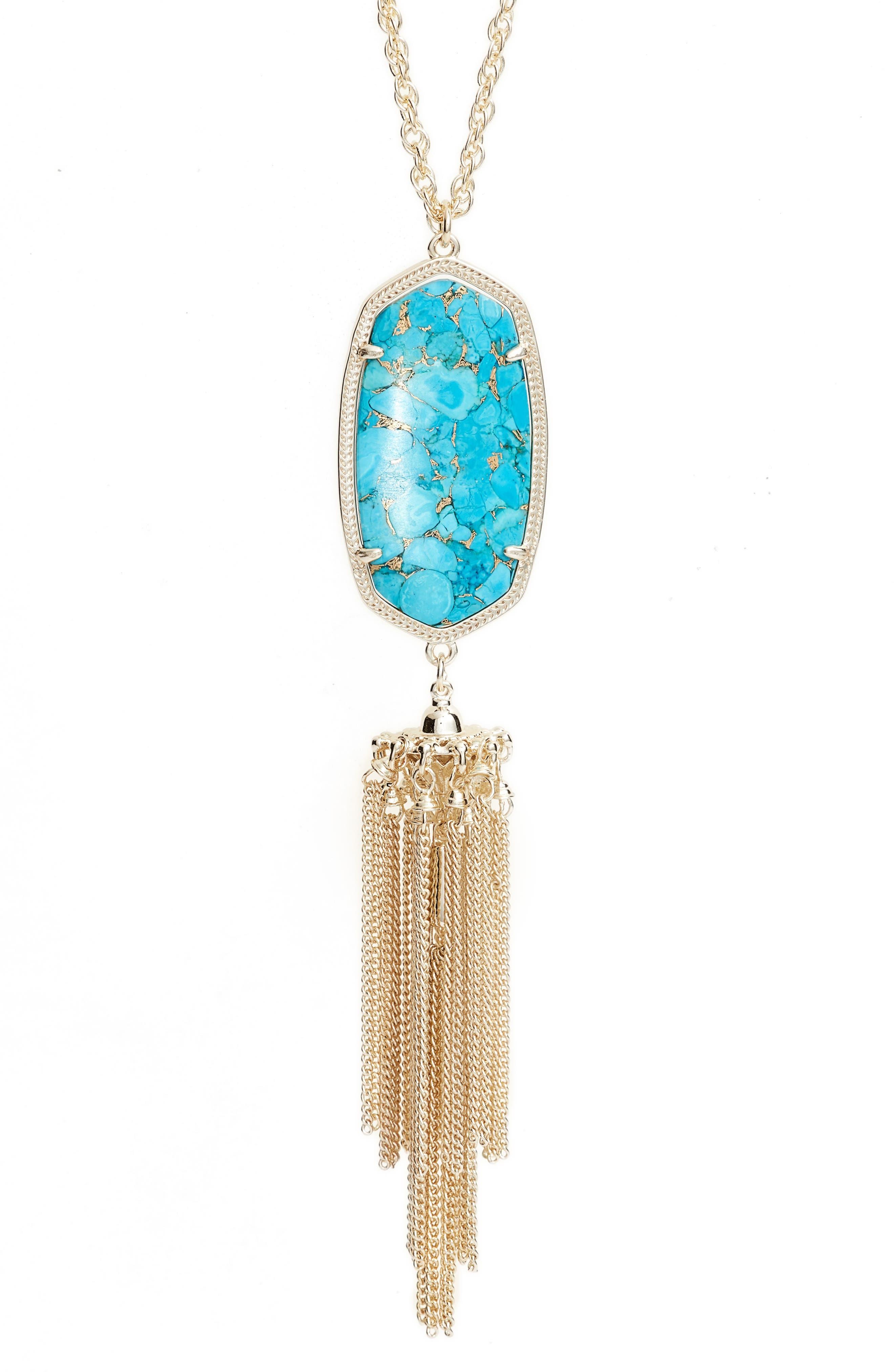 Rayne Stone Tassel Pendant Necklace,                             Alternate thumbnail 208, color,