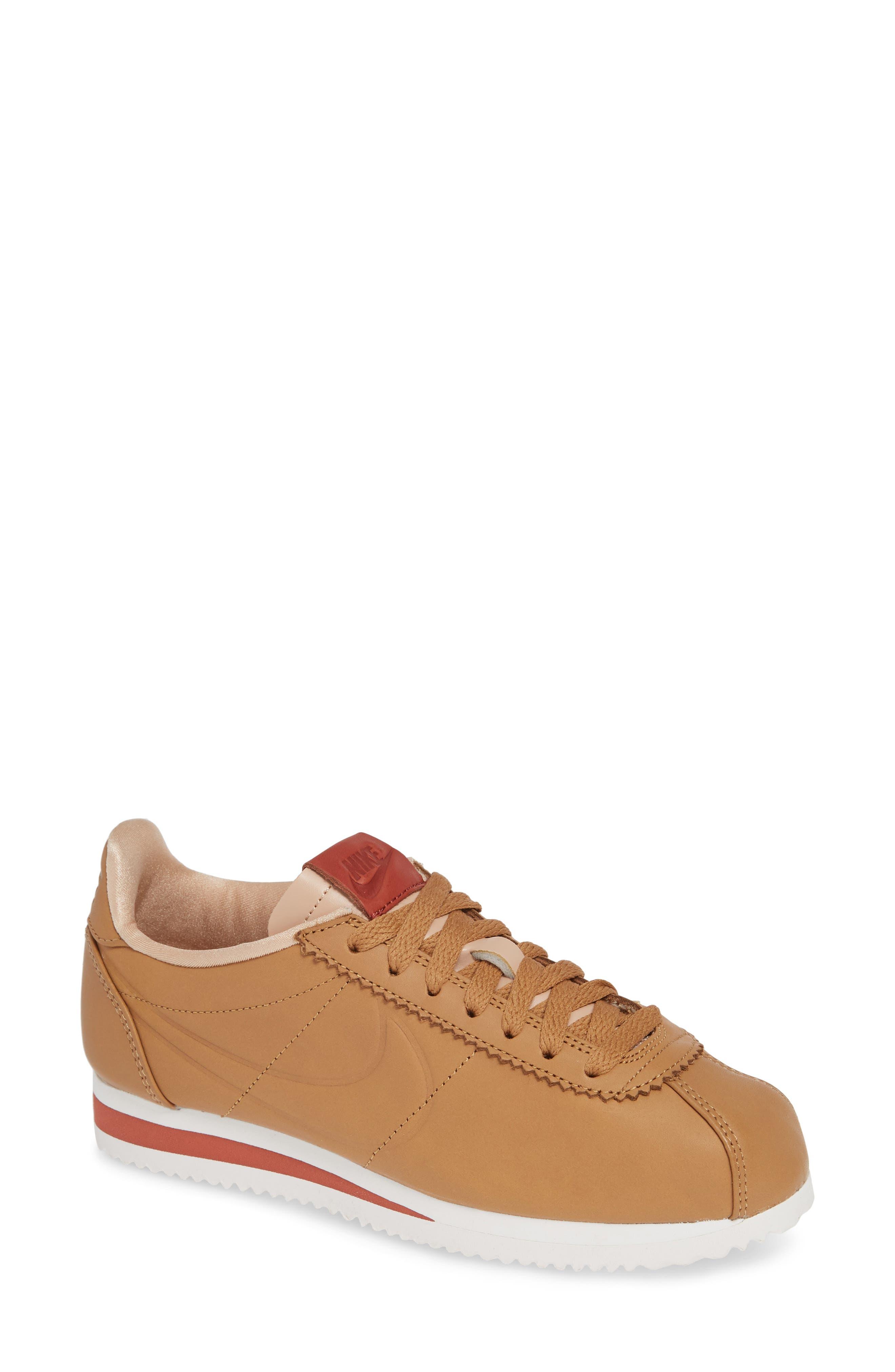 LA Cortez x Maria Sharapova Premium Sneaker,                             Main thumbnail 1, color,                             CAMEL/CAMEL
