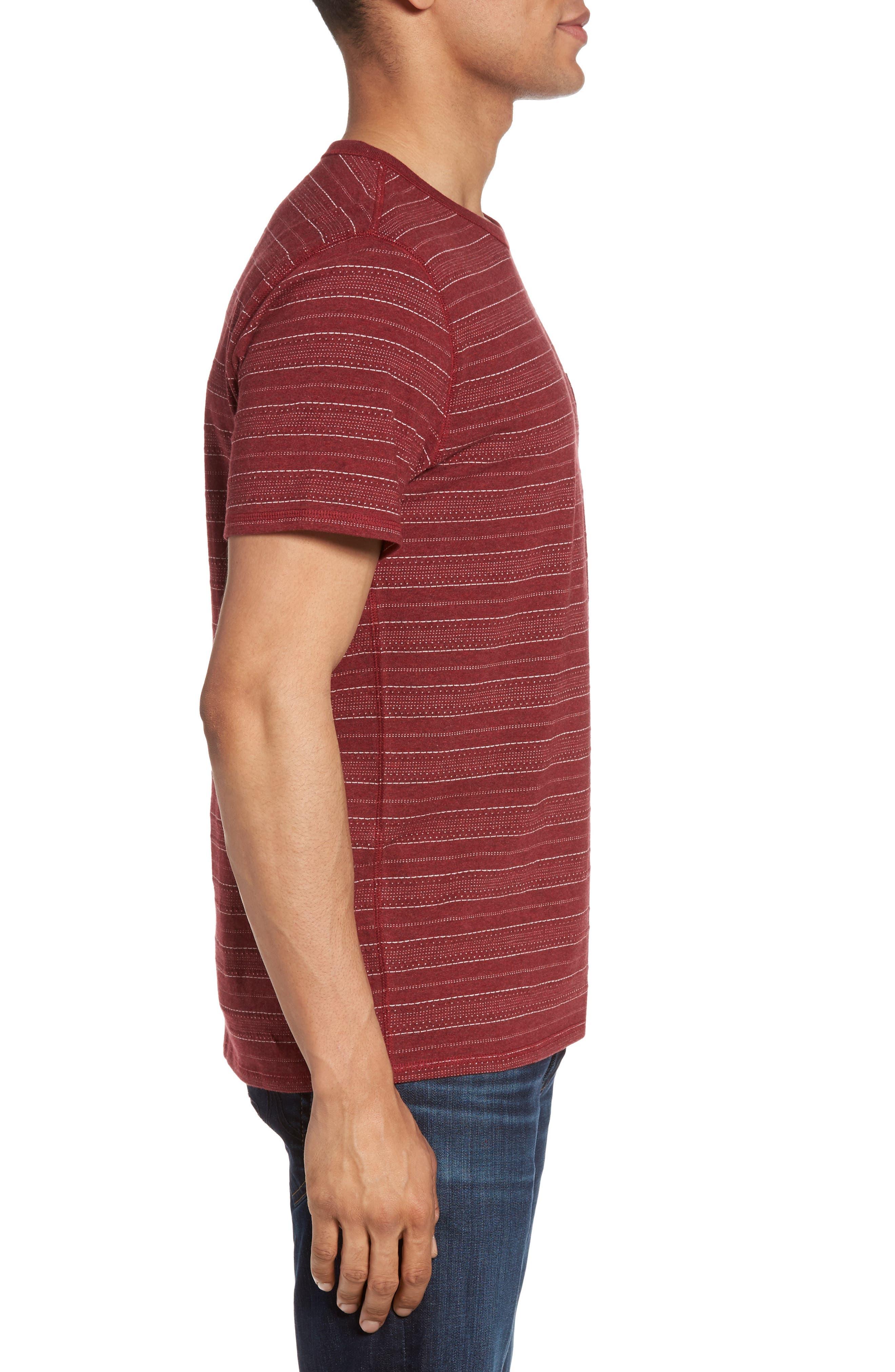 Jacquard Stripe T-Shirt,                             Alternate thumbnail 3, color,                             938
