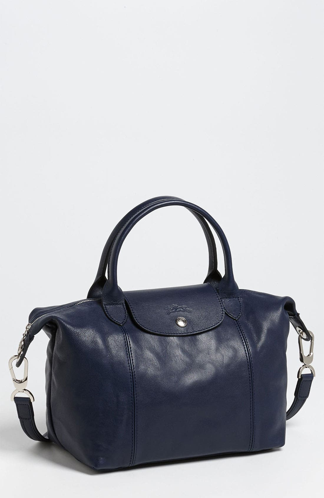 Small 'Le Pliage Cuir' Leather Top Handle Tote,                             Main thumbnail 14, color,