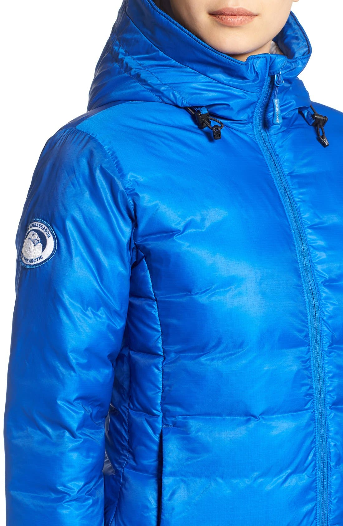 'PBI Camp' Packable Hooded Down Jacket,                             Alternate thumbnail 7, color,                             ROYAL PBI BLUE