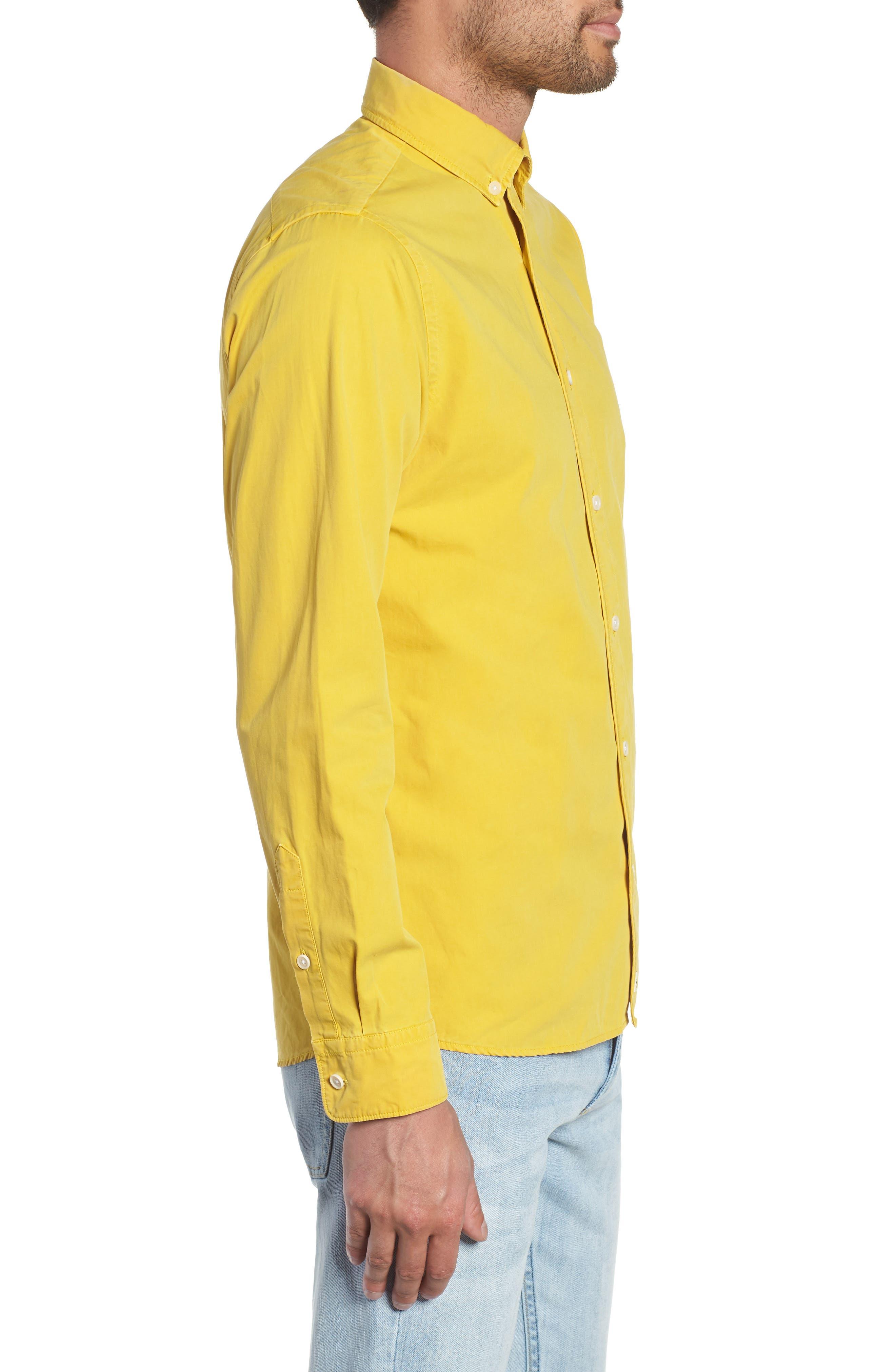 Bampton Solid Sport Shirt,                             Alternate thumbnail 4, color,                             LEMON