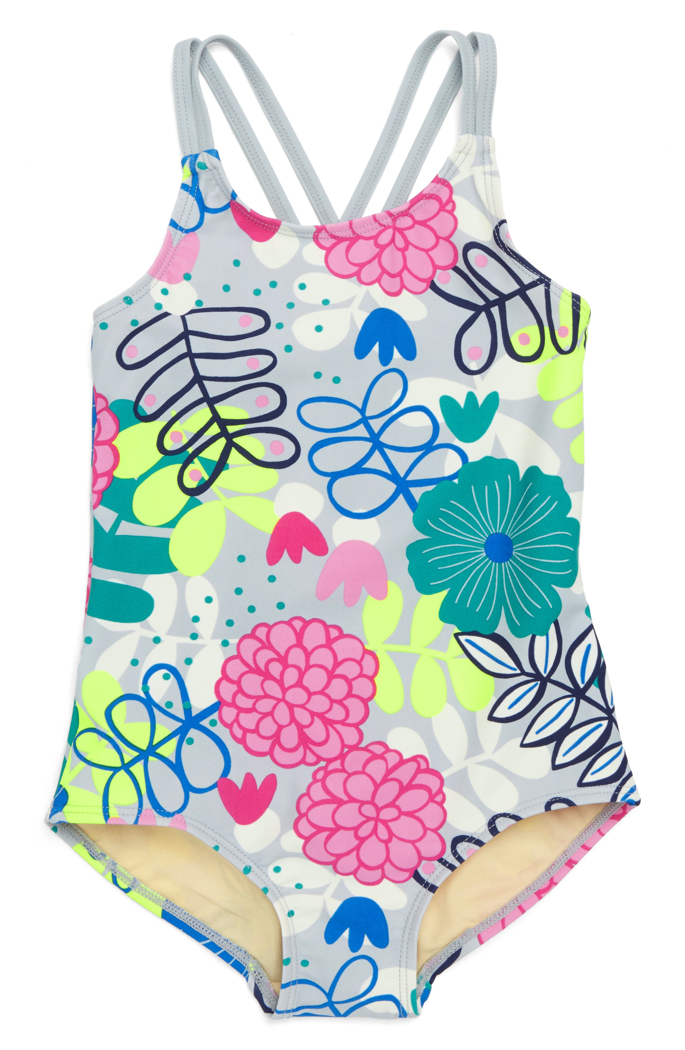 Strappy Back One-Piece Swimsuit,                             Main thumbnail 1, color,                             035