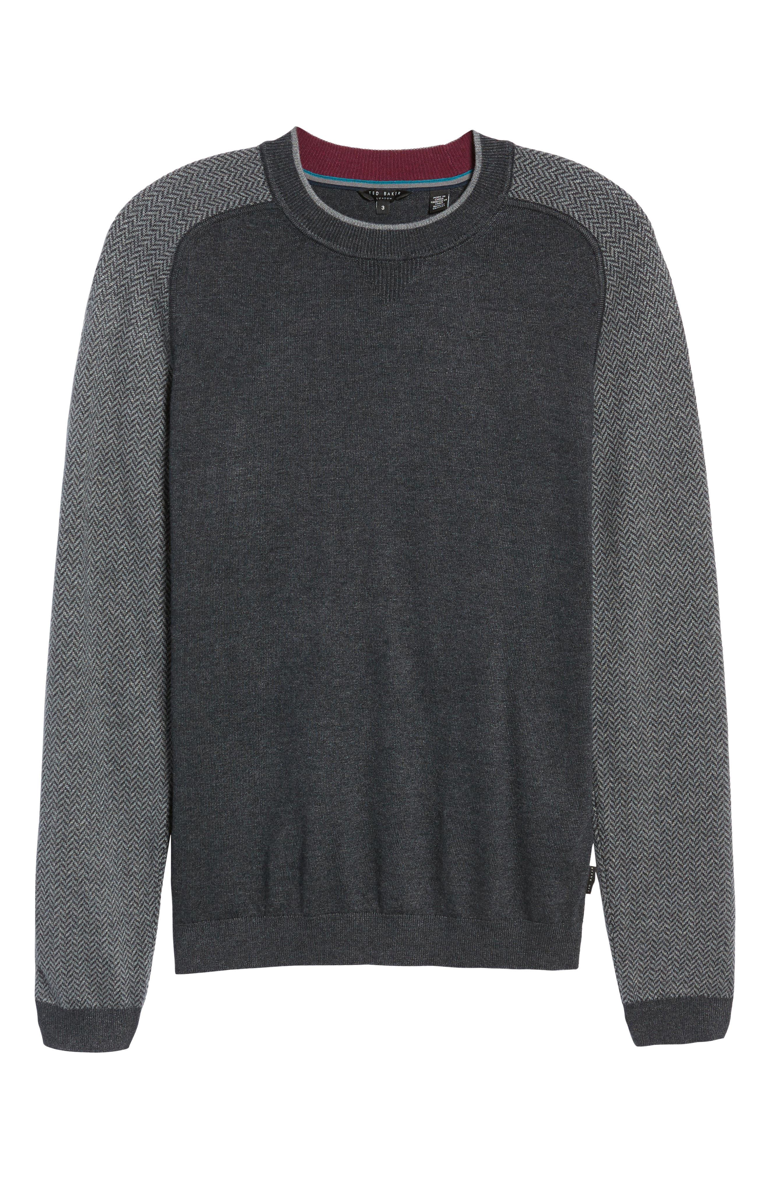 Pepmint Herringbone Sleeve Sweatshirt,                             Alternate thumbnail 11, color,
