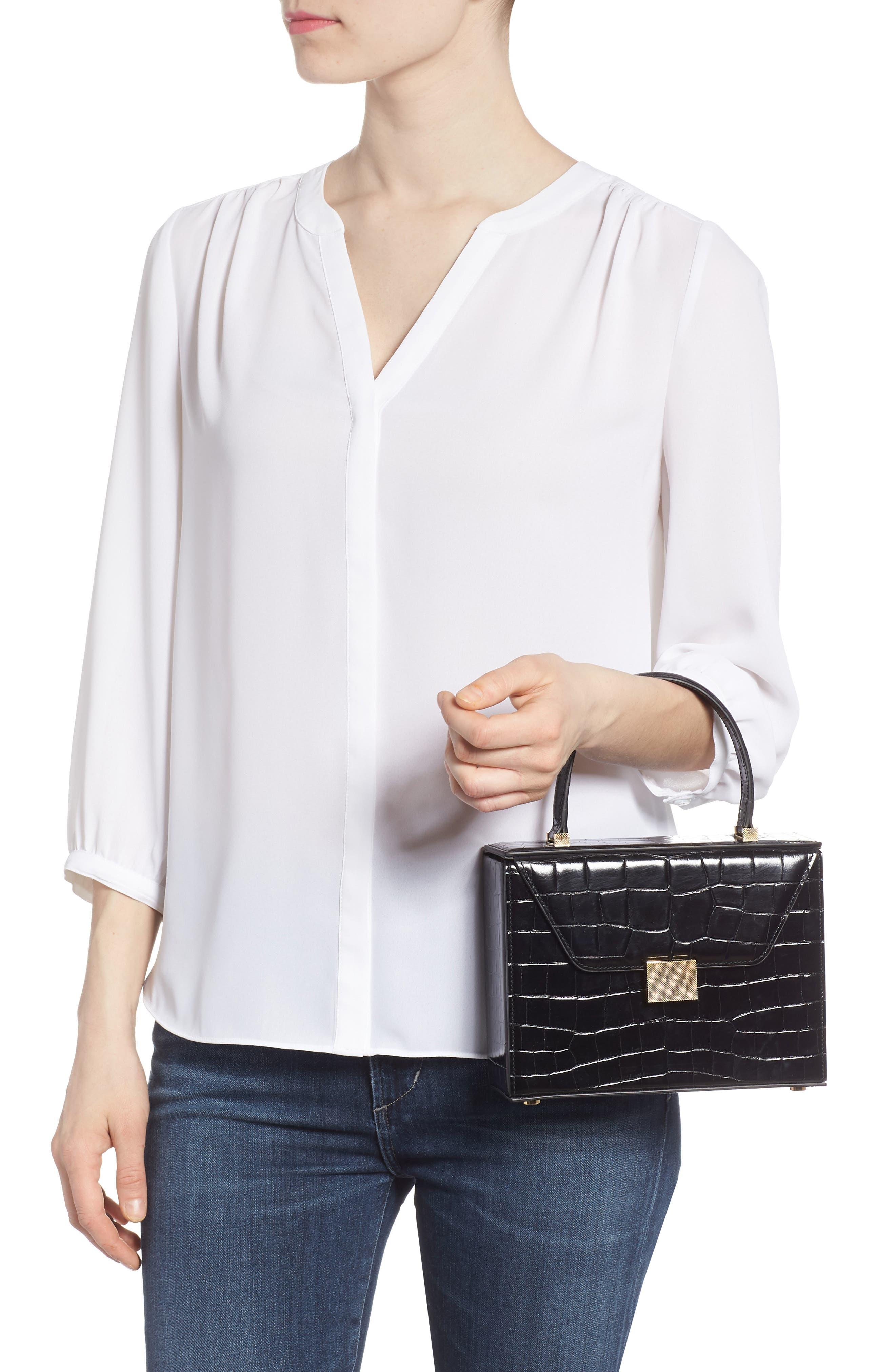 Mini Vanity Top Handle Box Bag,                             Alternate thumbnail 2, color,                             001