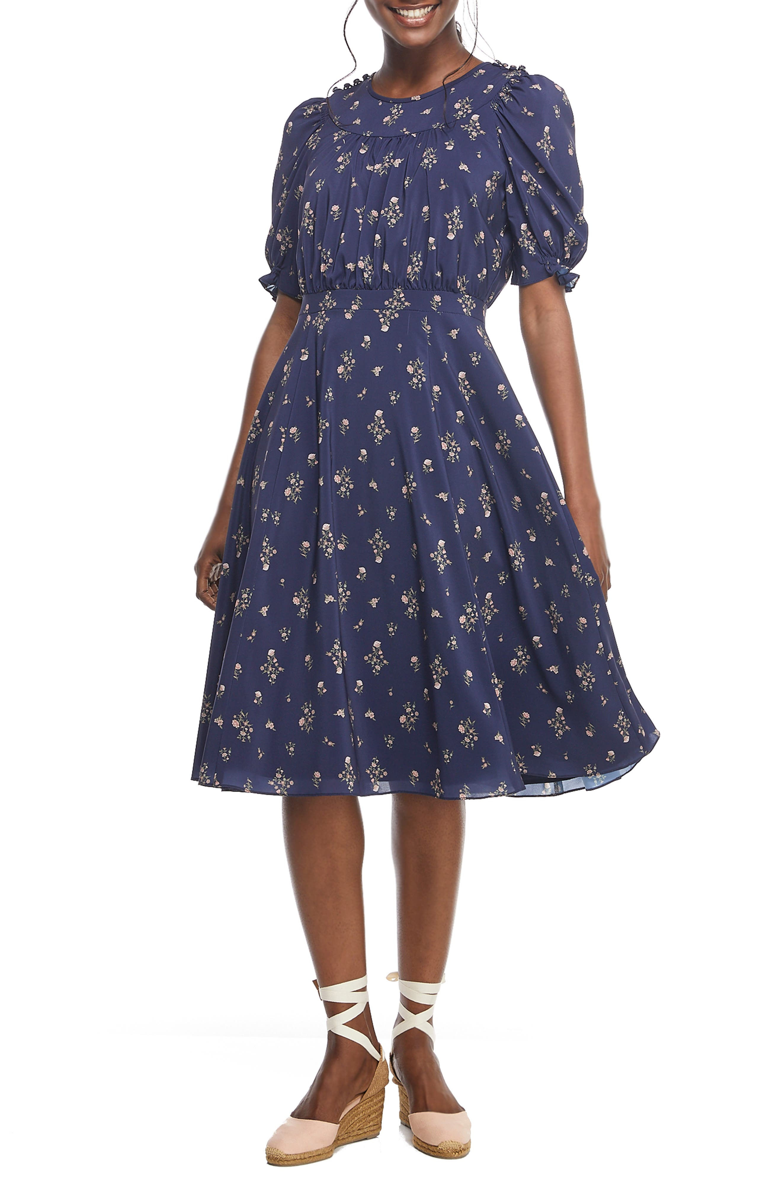 1930s Dresses | 30s Art Deco Dress Womens Gal Meets Glam Collection Emily Fit  Flare Dress $118.80 AT vintagedancer.com