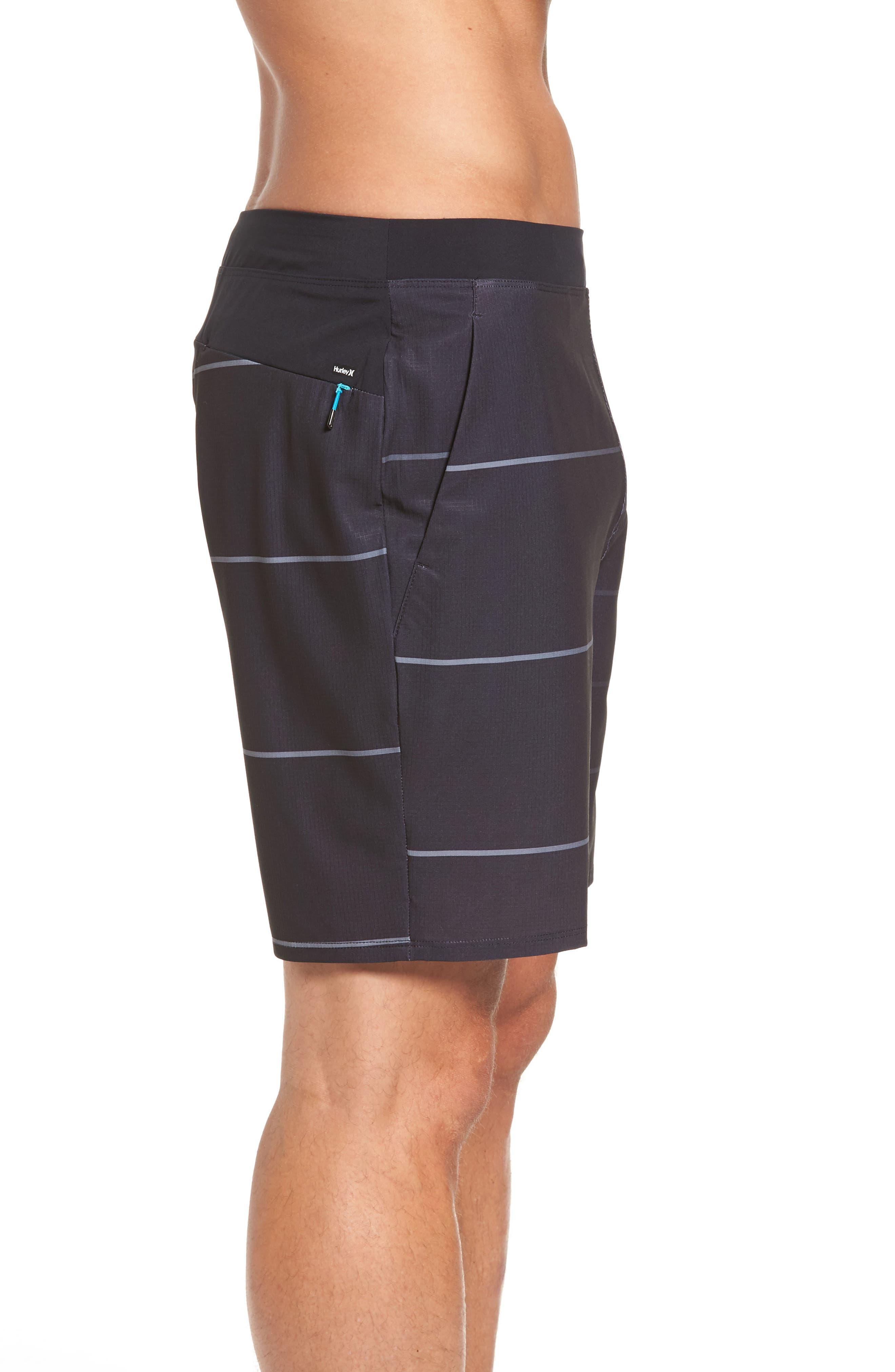 Alpha Trainer Stripe Shorts,                             Alternate thumbnail 3, color,                             010
