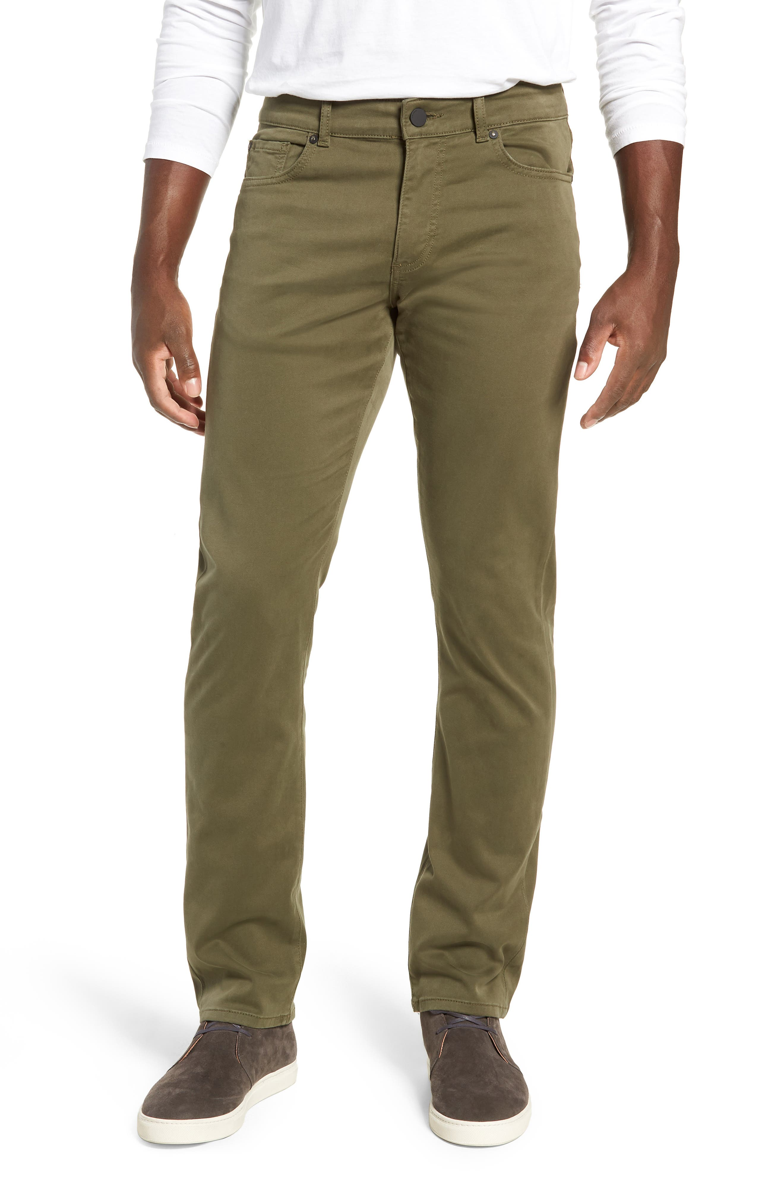 Russell Slim Fit Sateen Twill Pants,                             Main thumbnail 1, color,