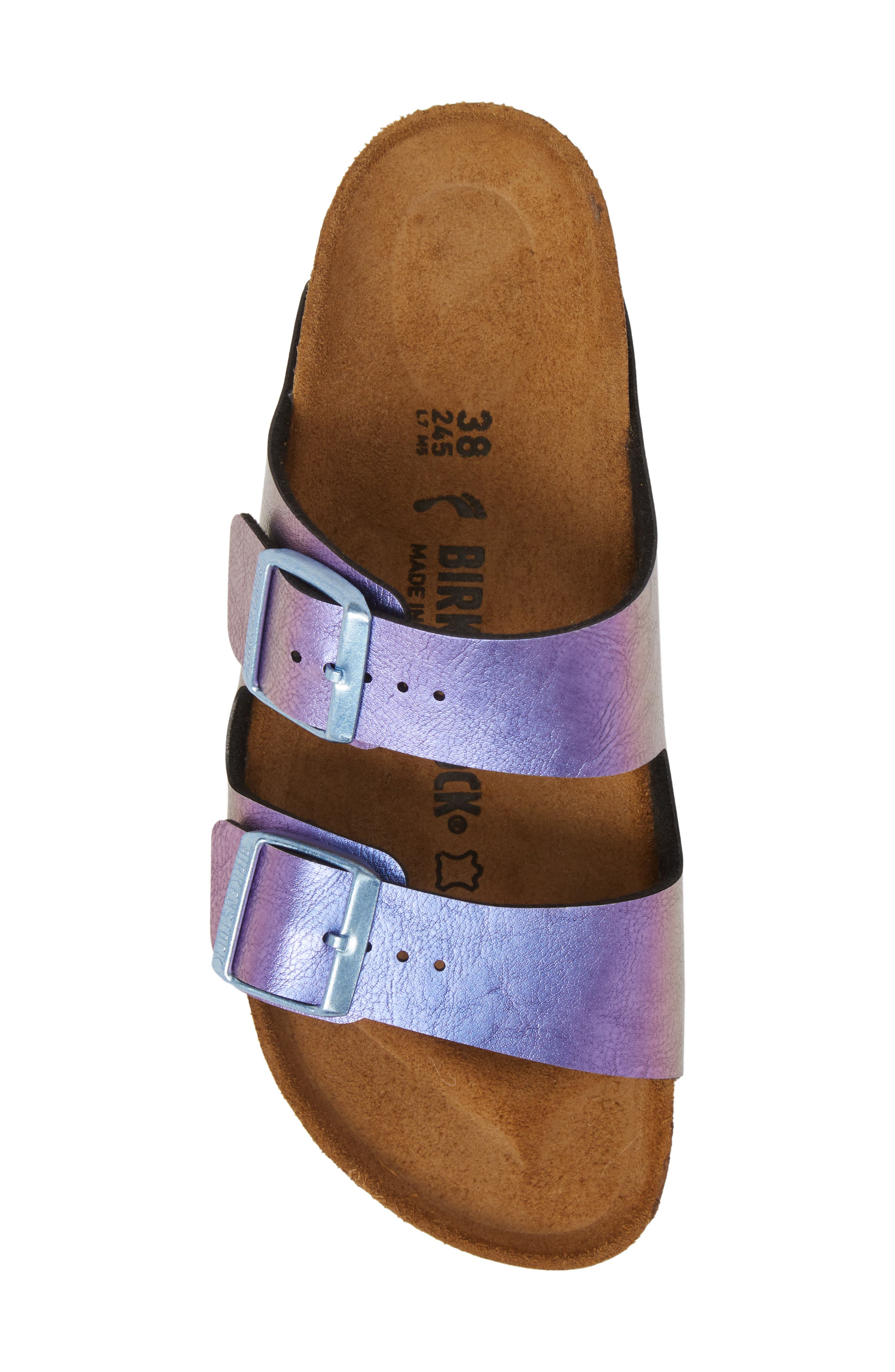 Arizona Graceful Birko-Flor<sup>™</sup> Sandal,                             Alternate thumbnail 5, color,                             VIOLET