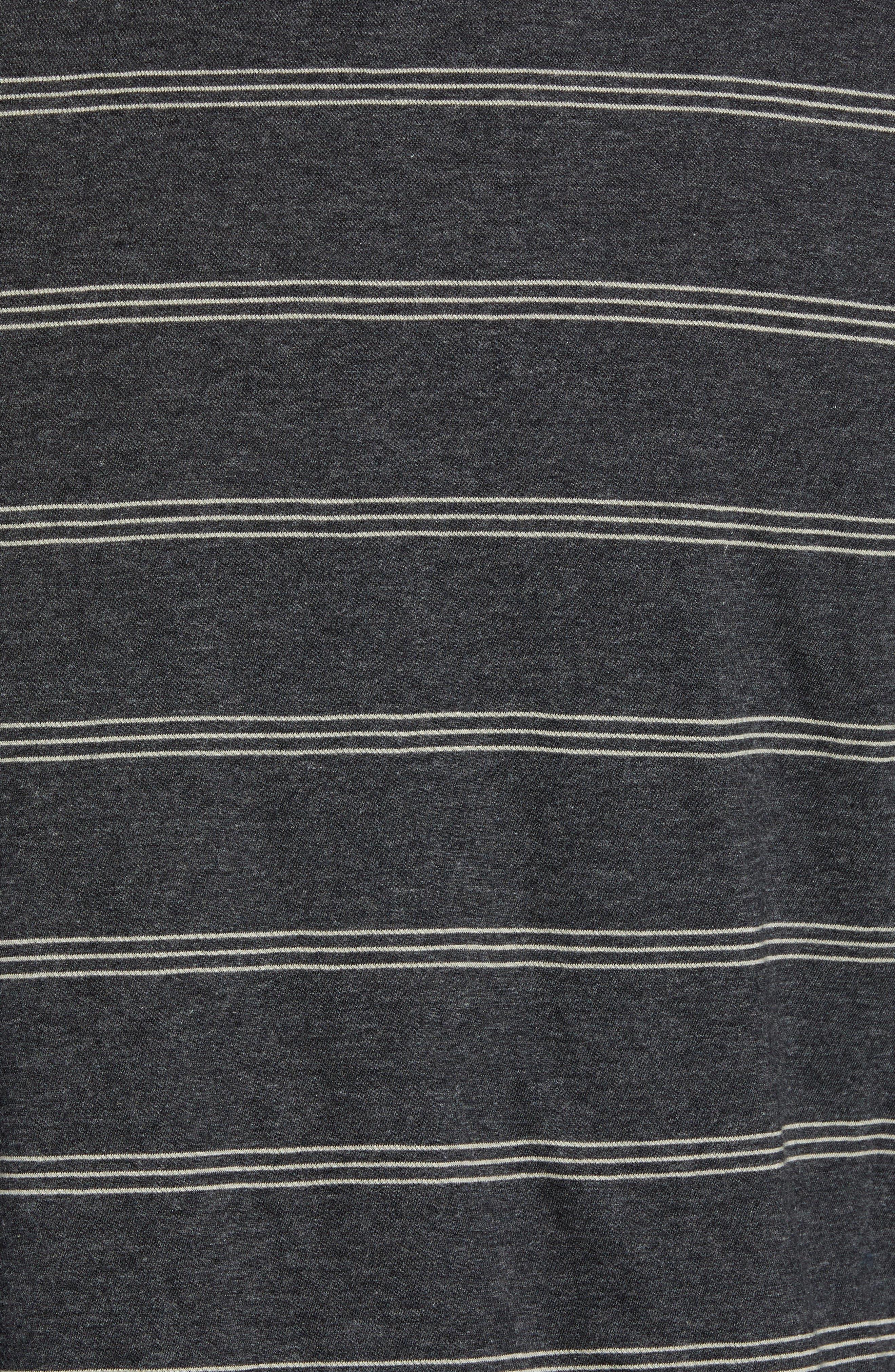 Gunnison Reversible Raglan Sleeve T-Shirt,                             Alternate thumbnail 6, color,                             PHANTOM HEATHER