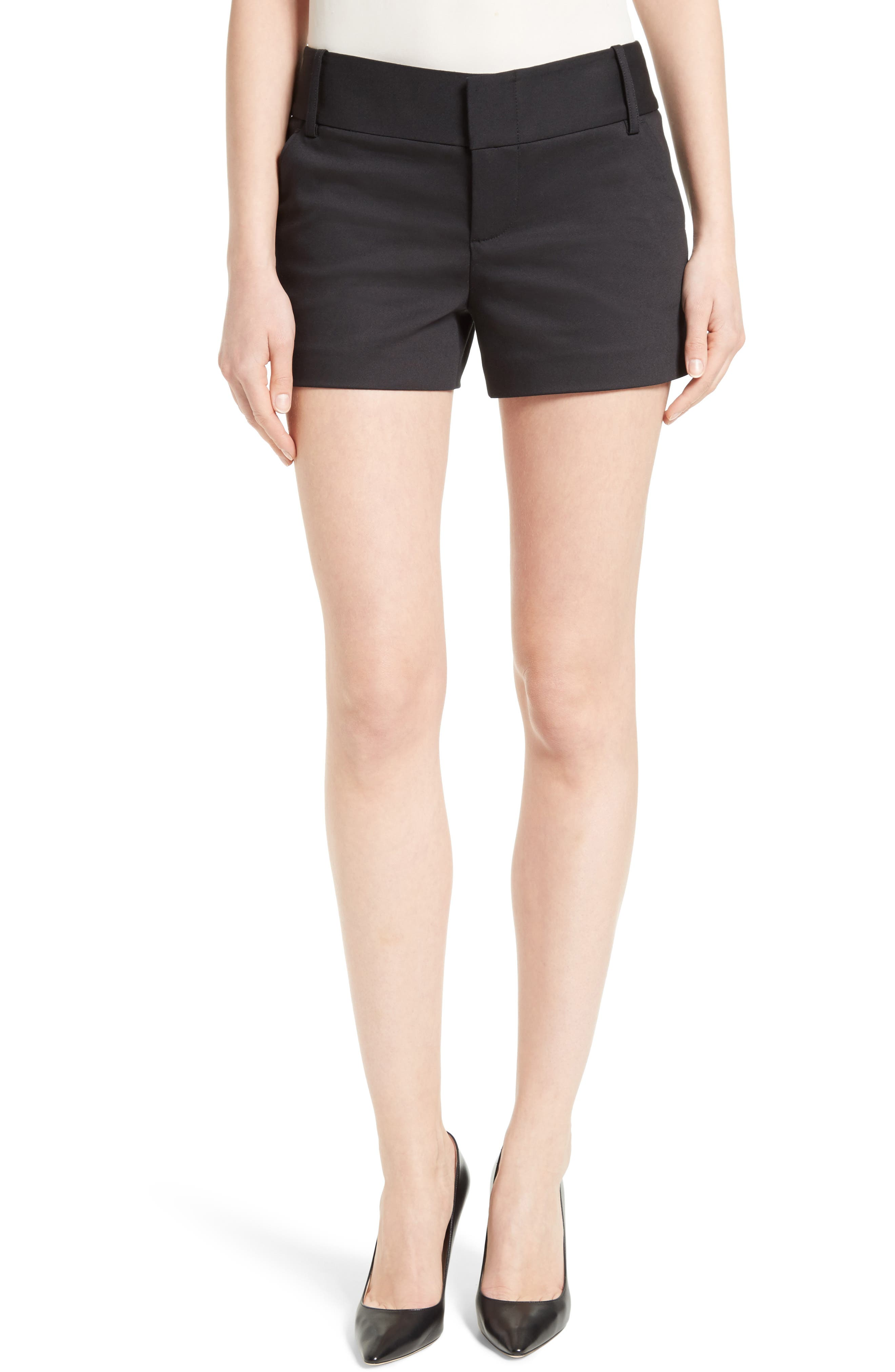 Cady Cotton Blend Shorts,                         Main,                         color, 001