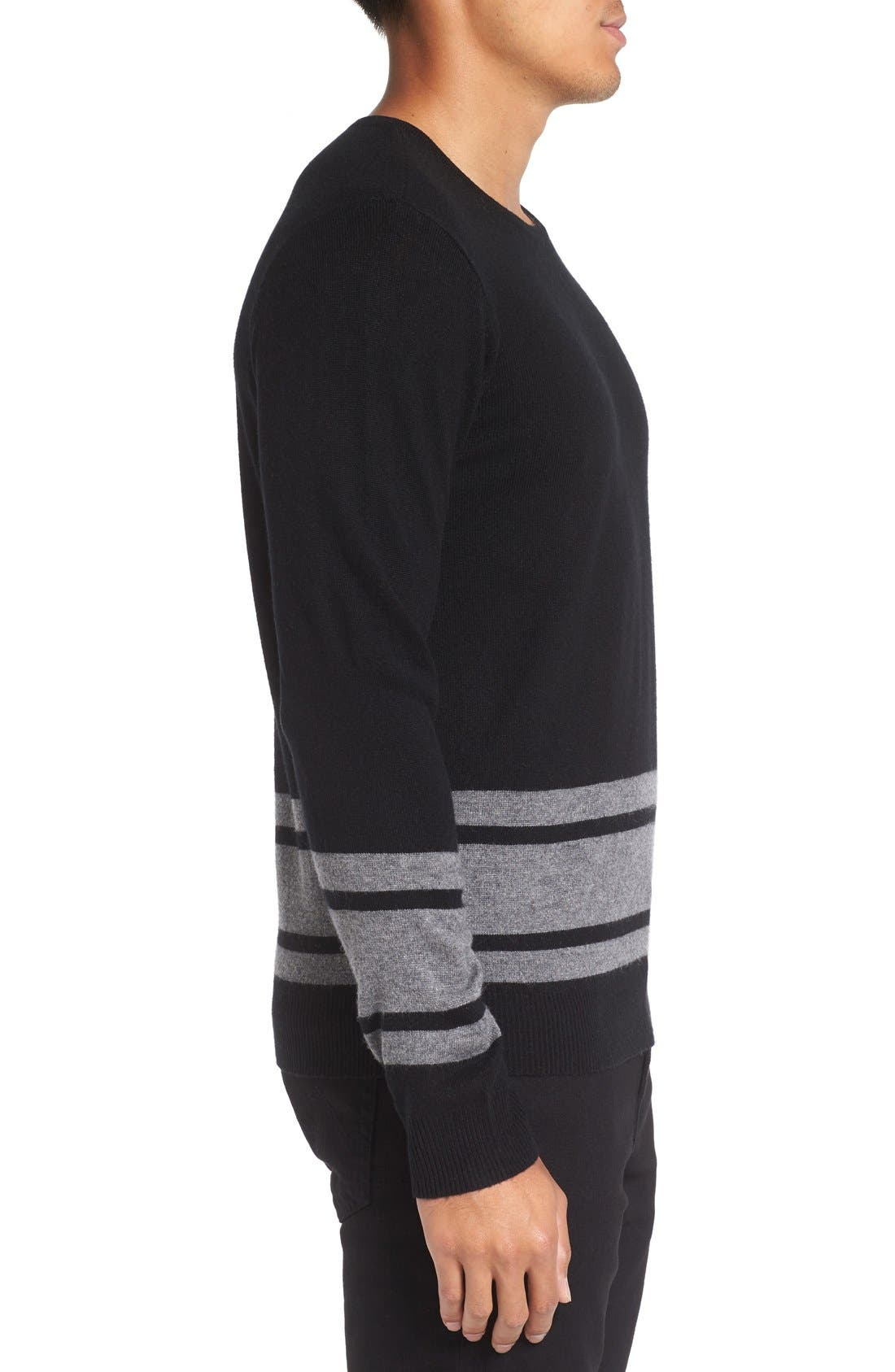 Stripe Wool Blend Sweater,                             Alternate thumbnail 6, color,