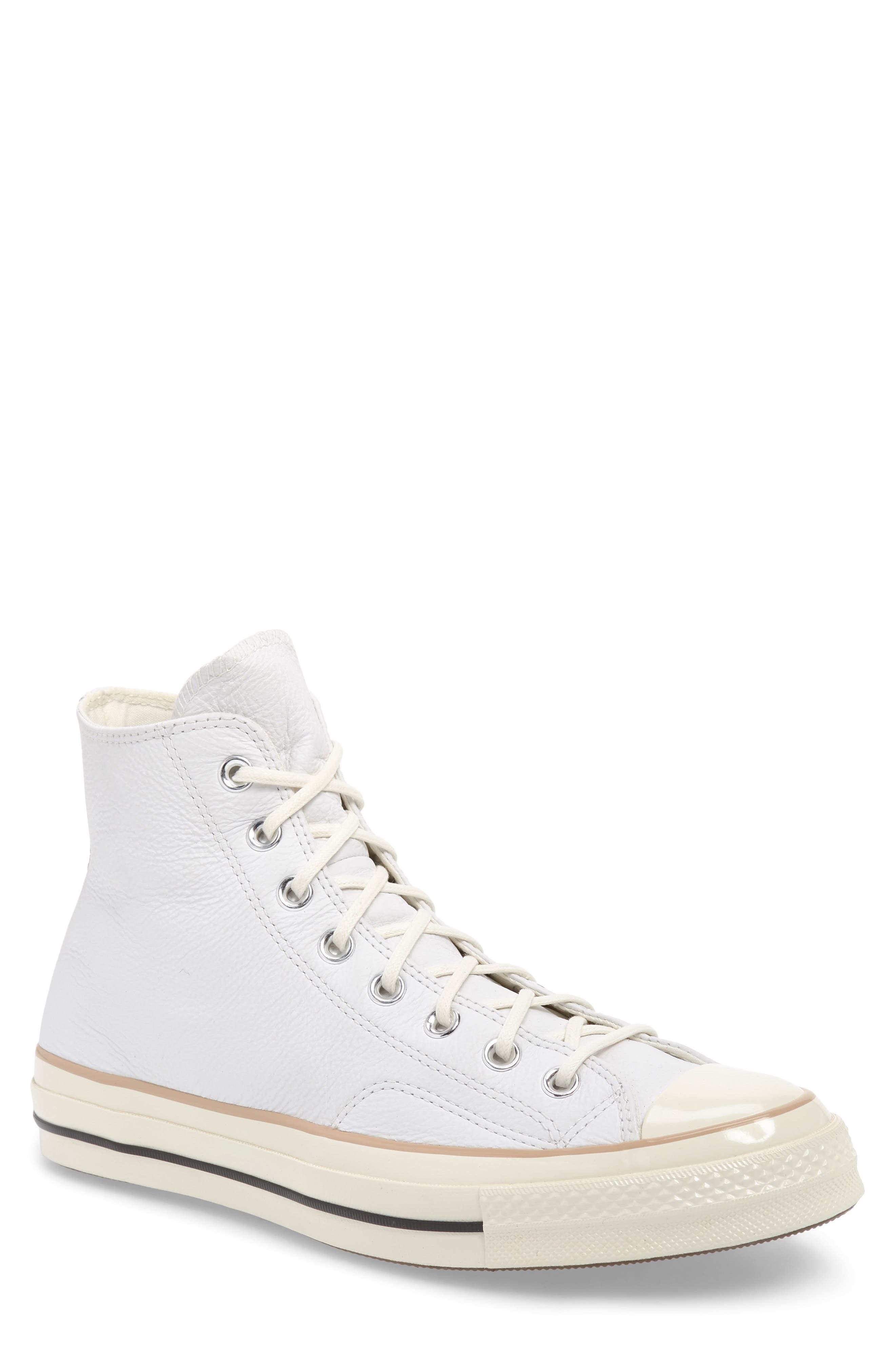 Chuck 70 Boot Leather High Top Sneaker,                         Main,                         color, WHITE/ LIGHT FAWN/ EGRET