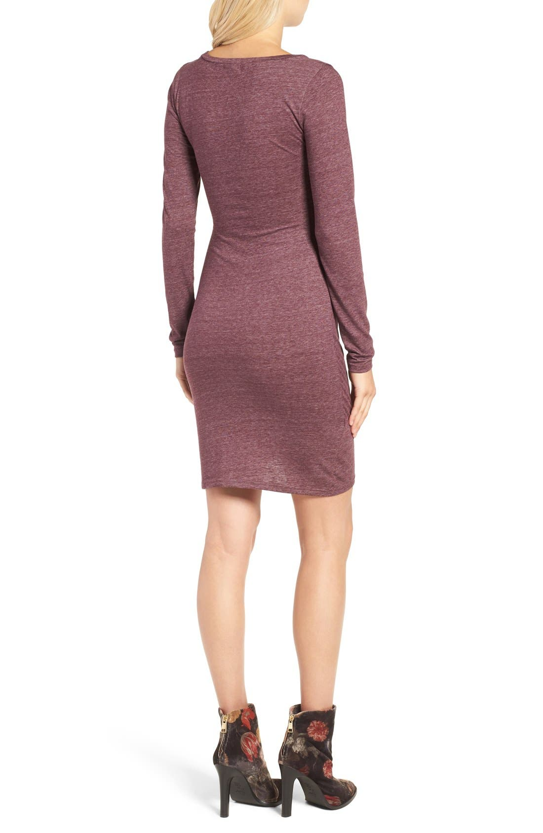 Ruched Long Sleeve Dress,                             Alternate thumbnail 80, color,