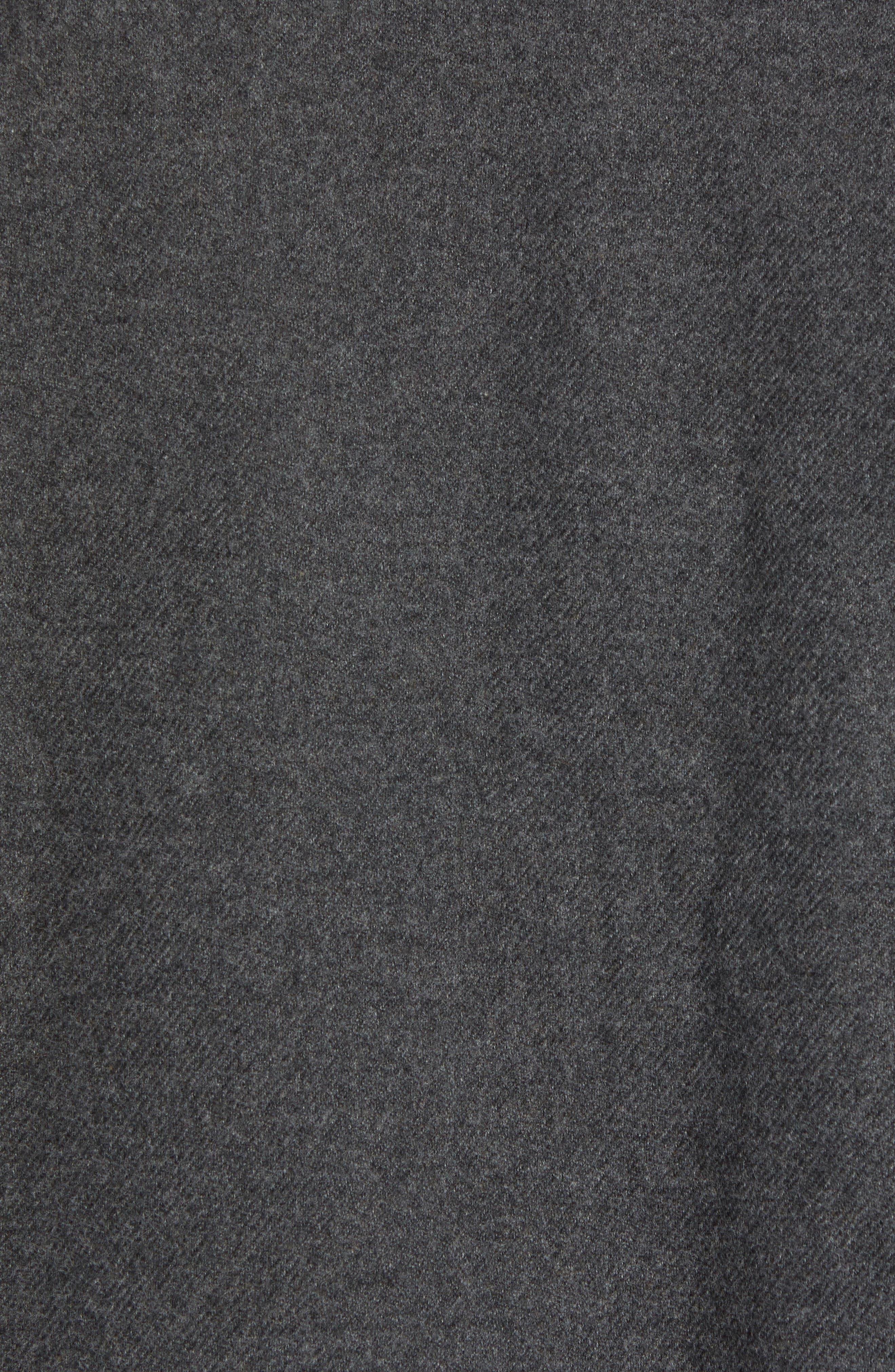 'Fjord' Flannel Shirt Jacket,                             Alternate thumbnail 6, color,                             FORGE GREY
