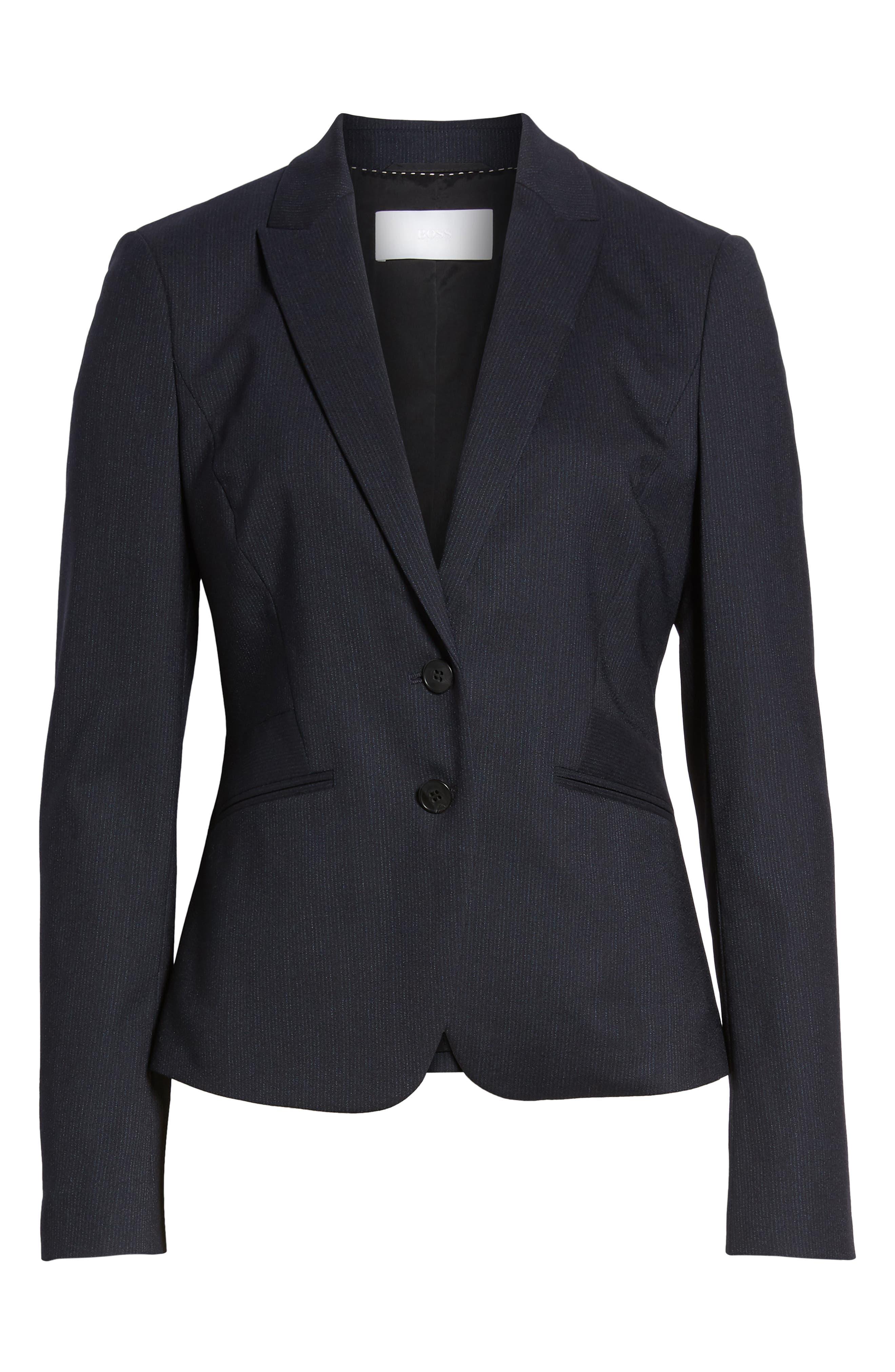 Jamahina Monostripe Stretch Wool Suit Jacket,                             Alternate thumbnail 5, color,                             468