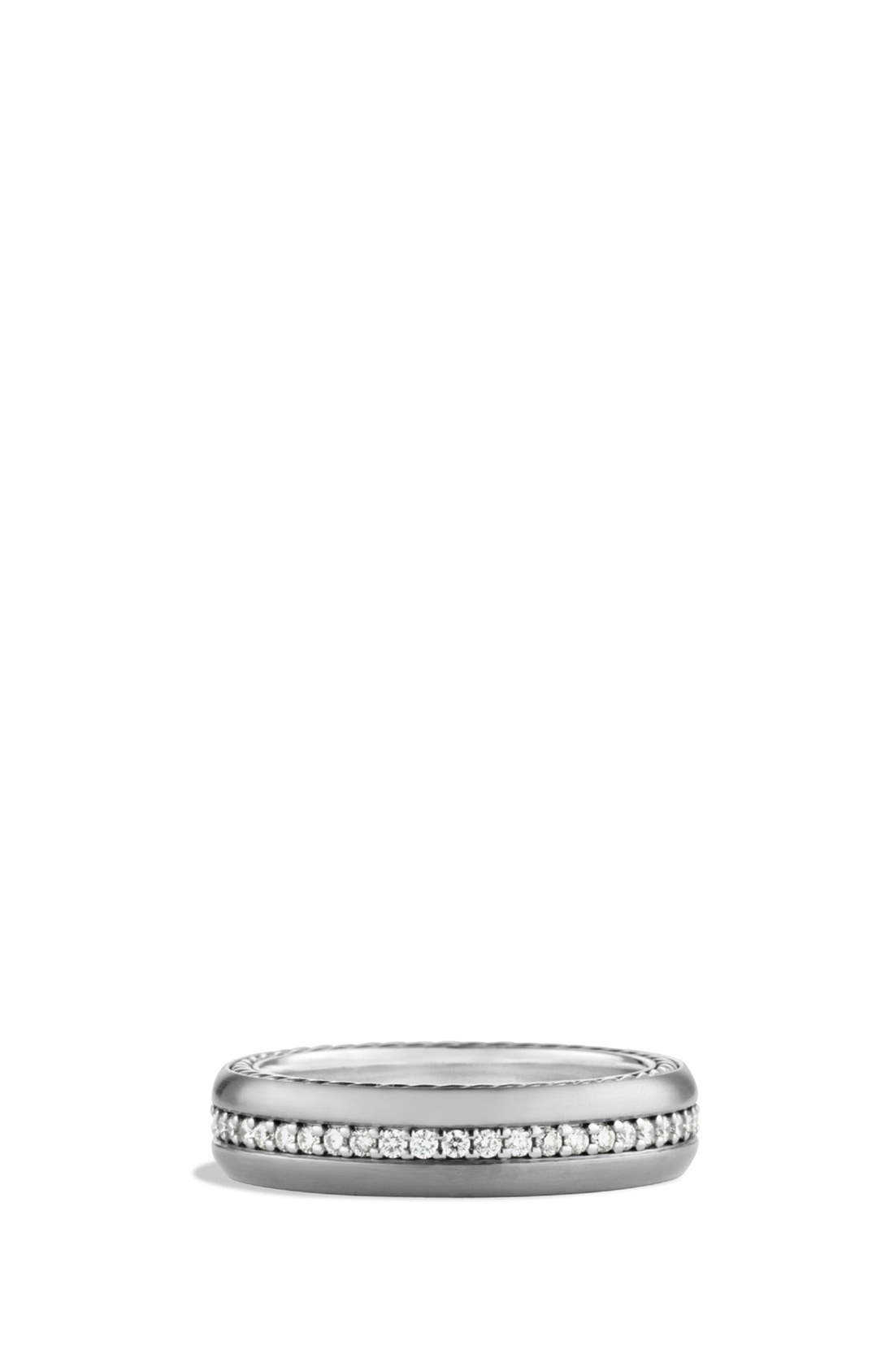 'Streamline' Narrow Band Ring with Diamonds,                             Main thumbnail 1, color,                             DIAMOND
