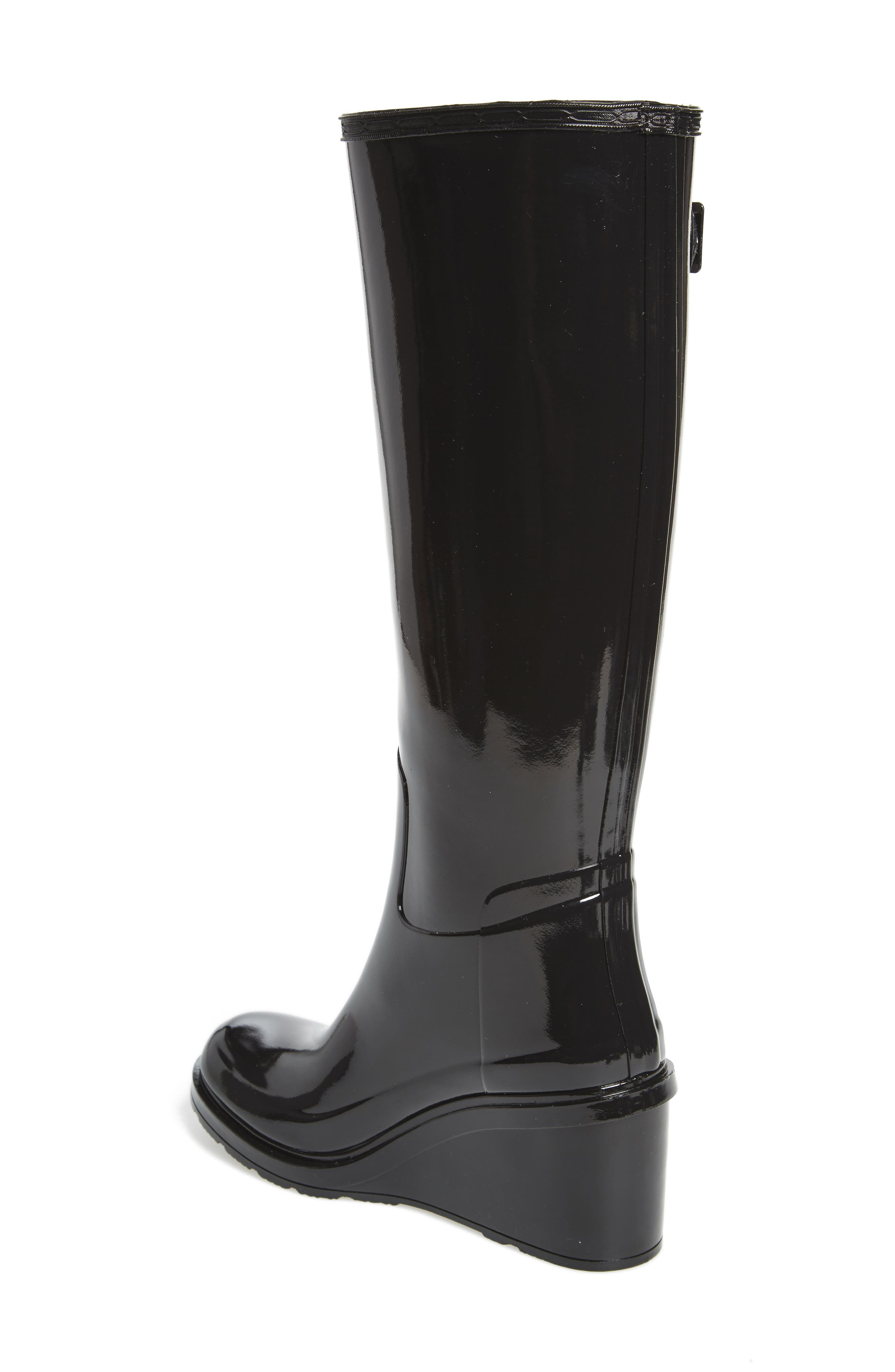 Original Refined Wedge Rain Boot,                             Alternate thumbnail 5, color,