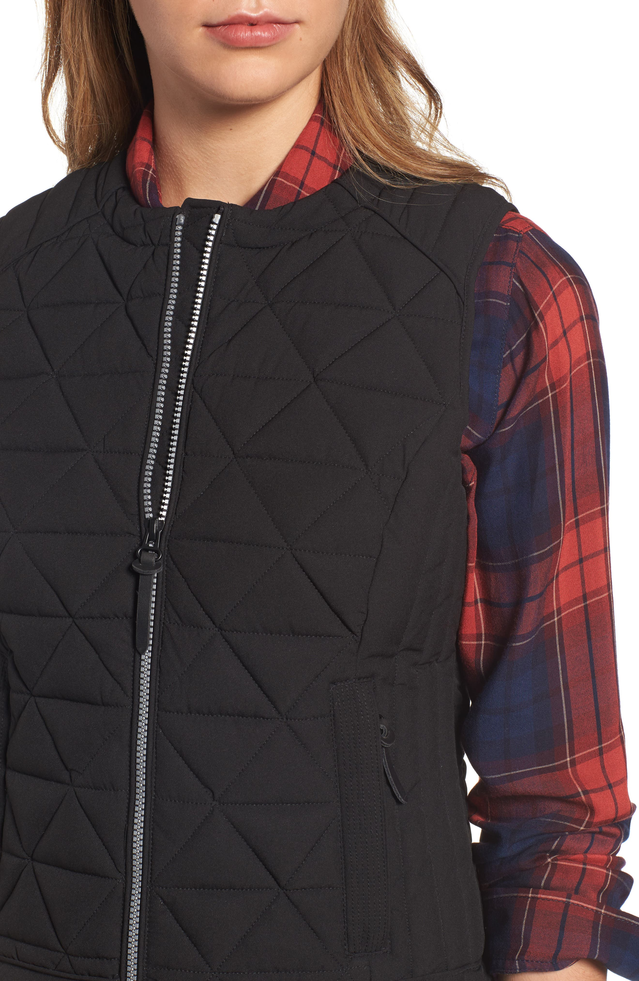 Sage Hooded Quilted Vest,                             Alternate thumbnail 7, color,