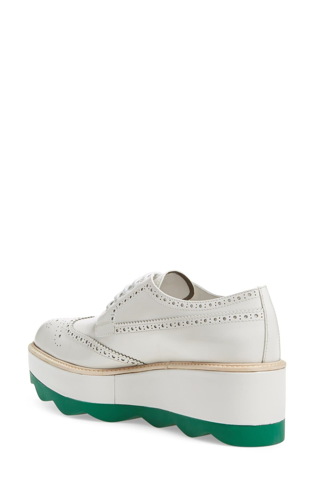 Scalloped Platform Oxford,                             Alternate thumbnail 10, color,